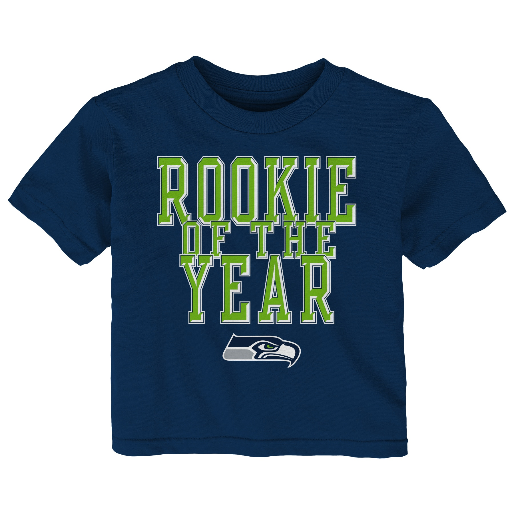 Seattle Seahawks Toddler Rookie Of The Year T-Shirt - College Navy