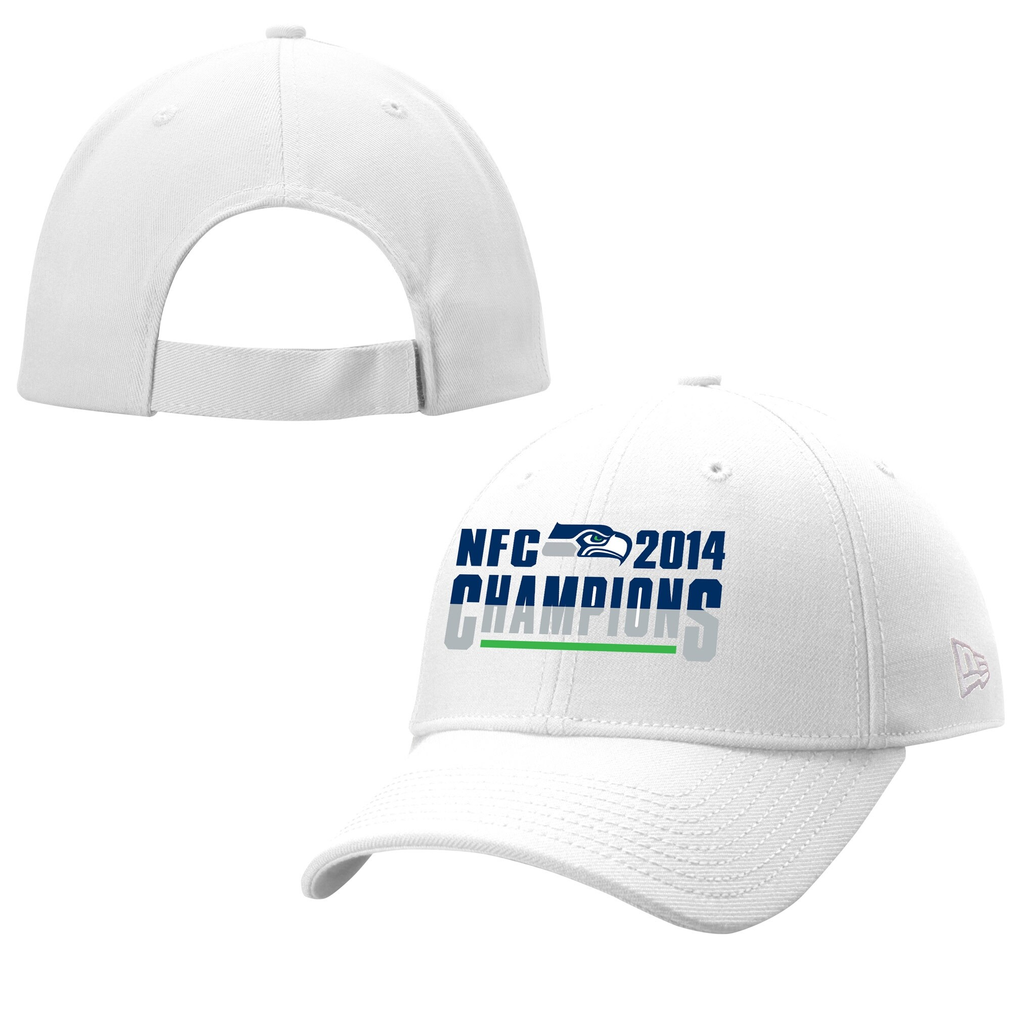 Seattle Seahawks New Era 2014 NFC Champions 9FORTY Adjustable Hat - White