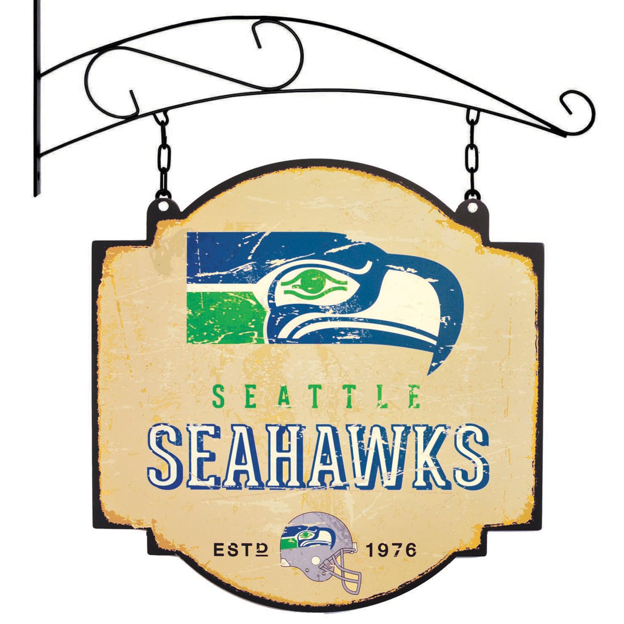 "Seattle Seahawks 16"" x 16"" Tavern Sign - Cream"