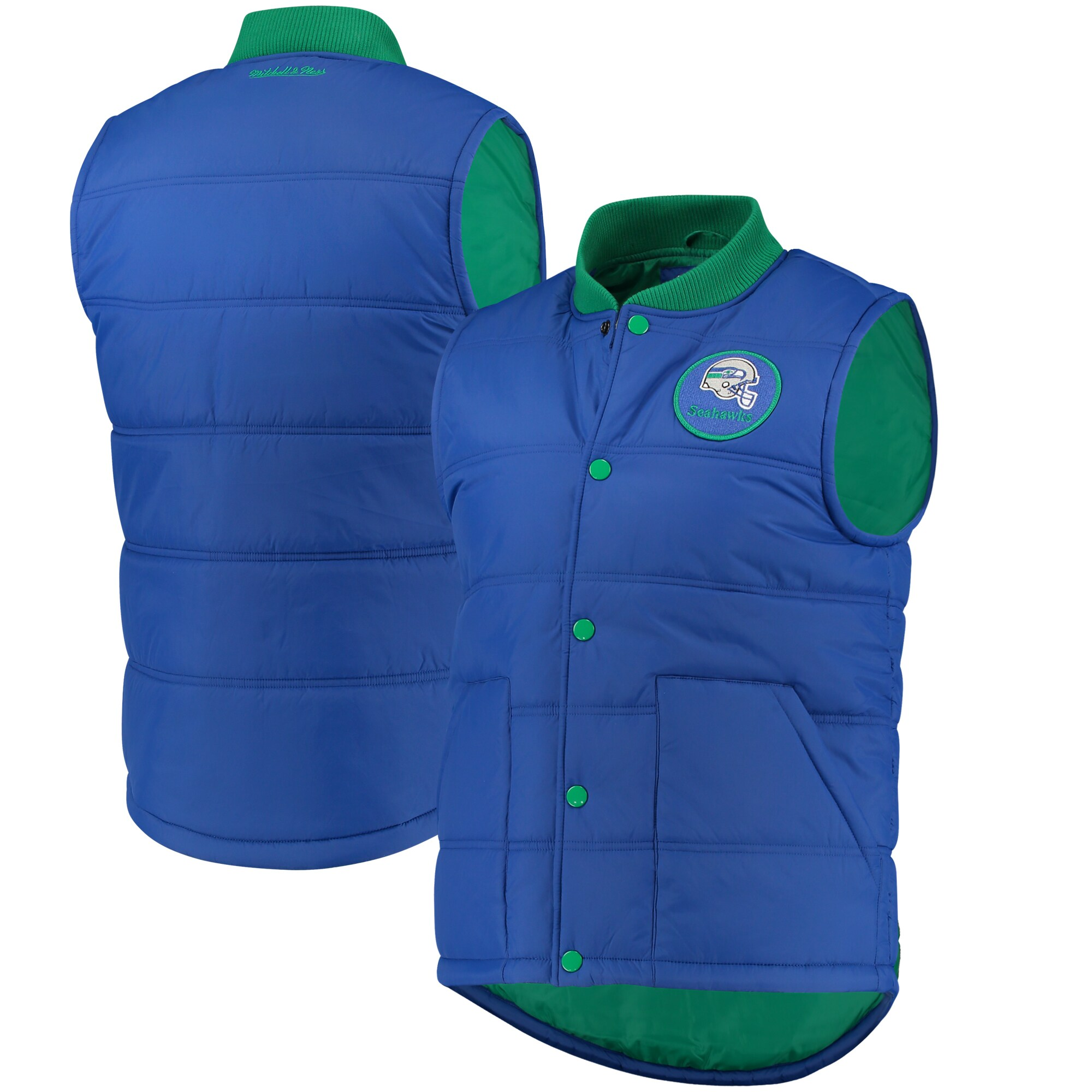 Seattle Seahawks Mitchell & Ness Play Clock Vest - Royal