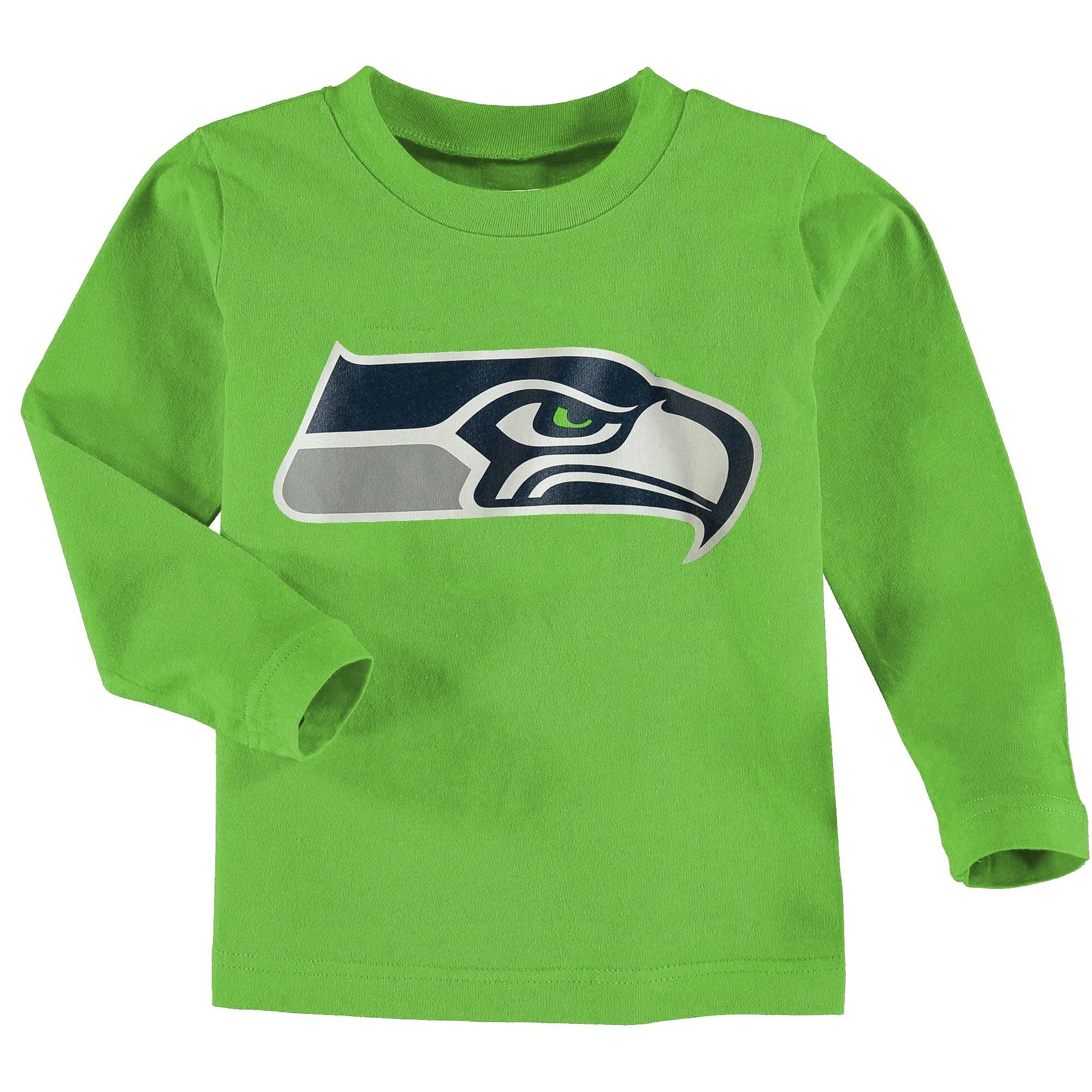 Seattle Seahawks Toddler Team Logo Long Sleeve T-Shirt - Neon Green