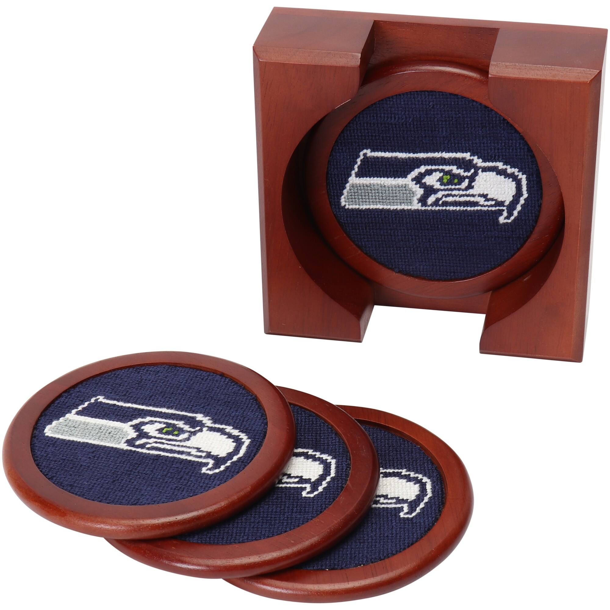 Seattle Seahawks Needlepoint Coaster Set