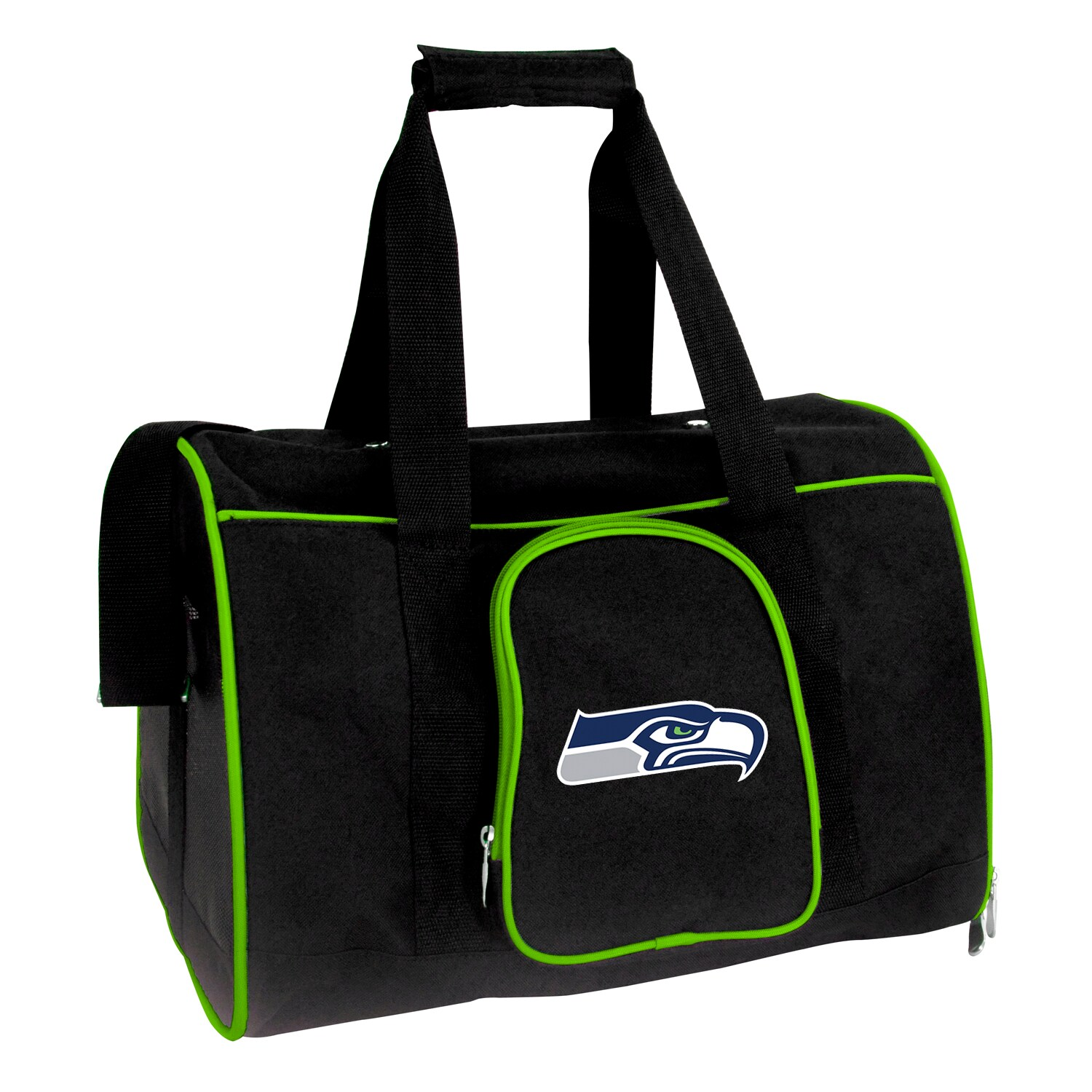 "Seattle Seahawks Small 16"" Pet Carrier - Black"