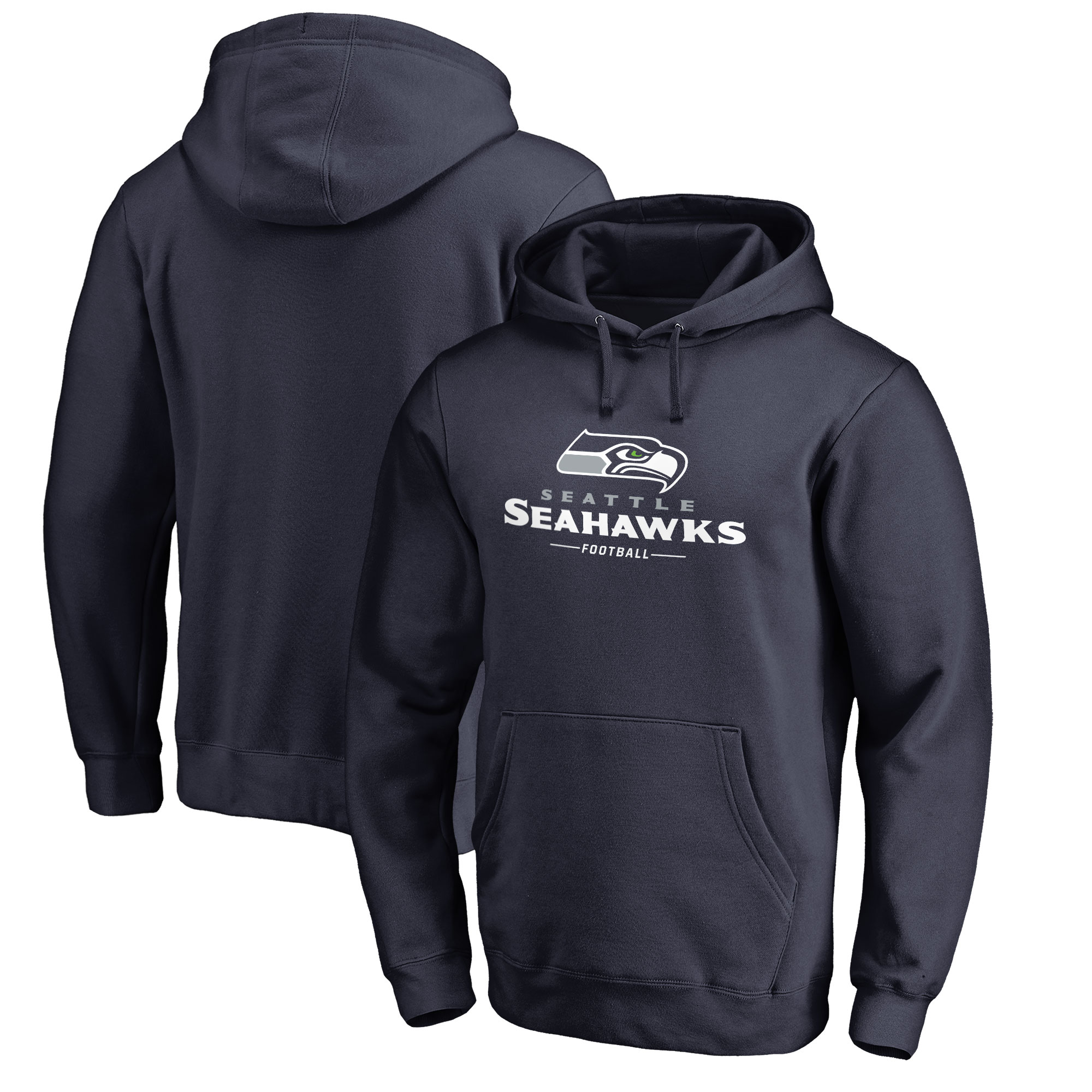 Seattle Seahawks NFL Pro Line by Fanatics Branded Team Lockup Pullover Hoodie - College Navy