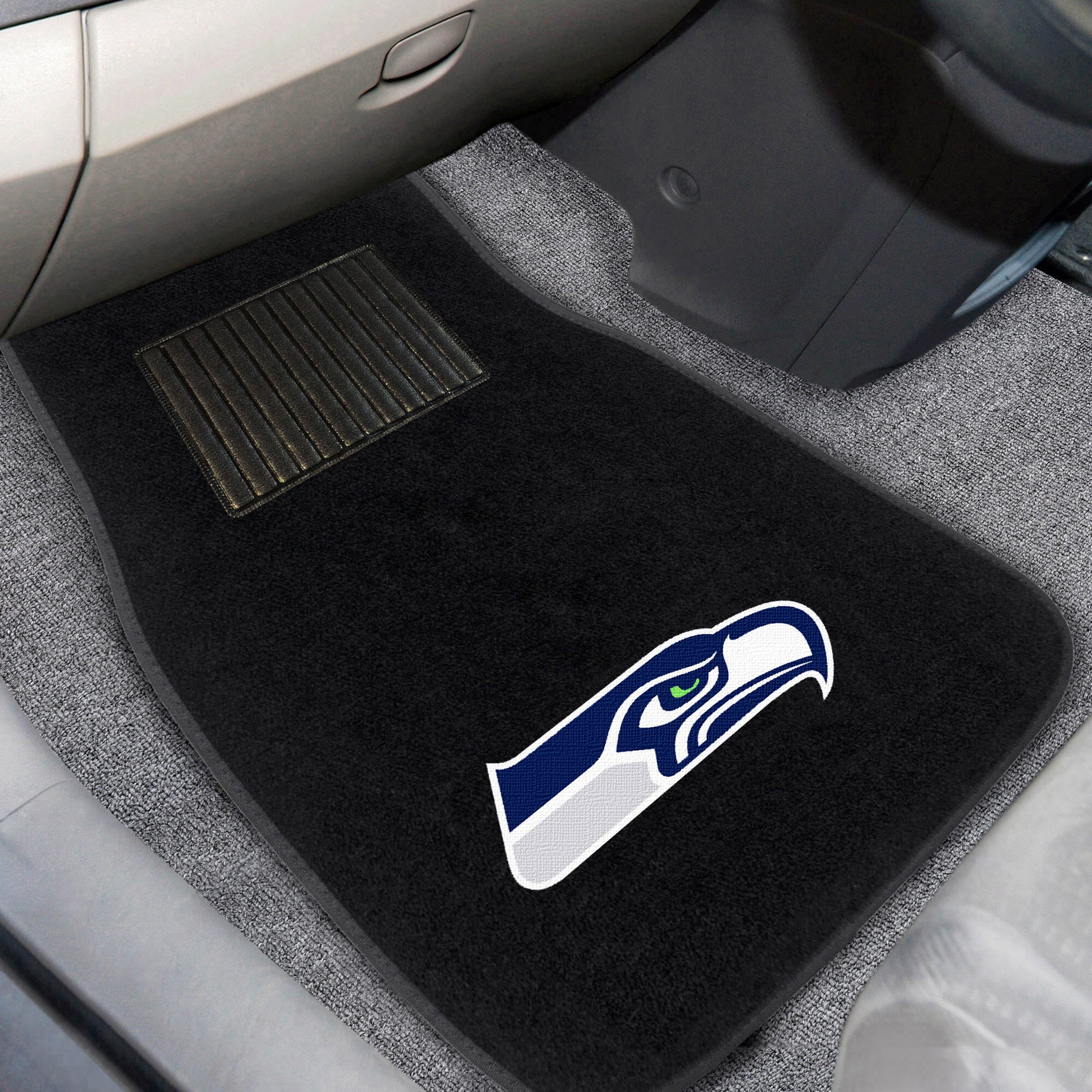 Seattle Seahawks 2-Piece Embroidered Car Mat Set