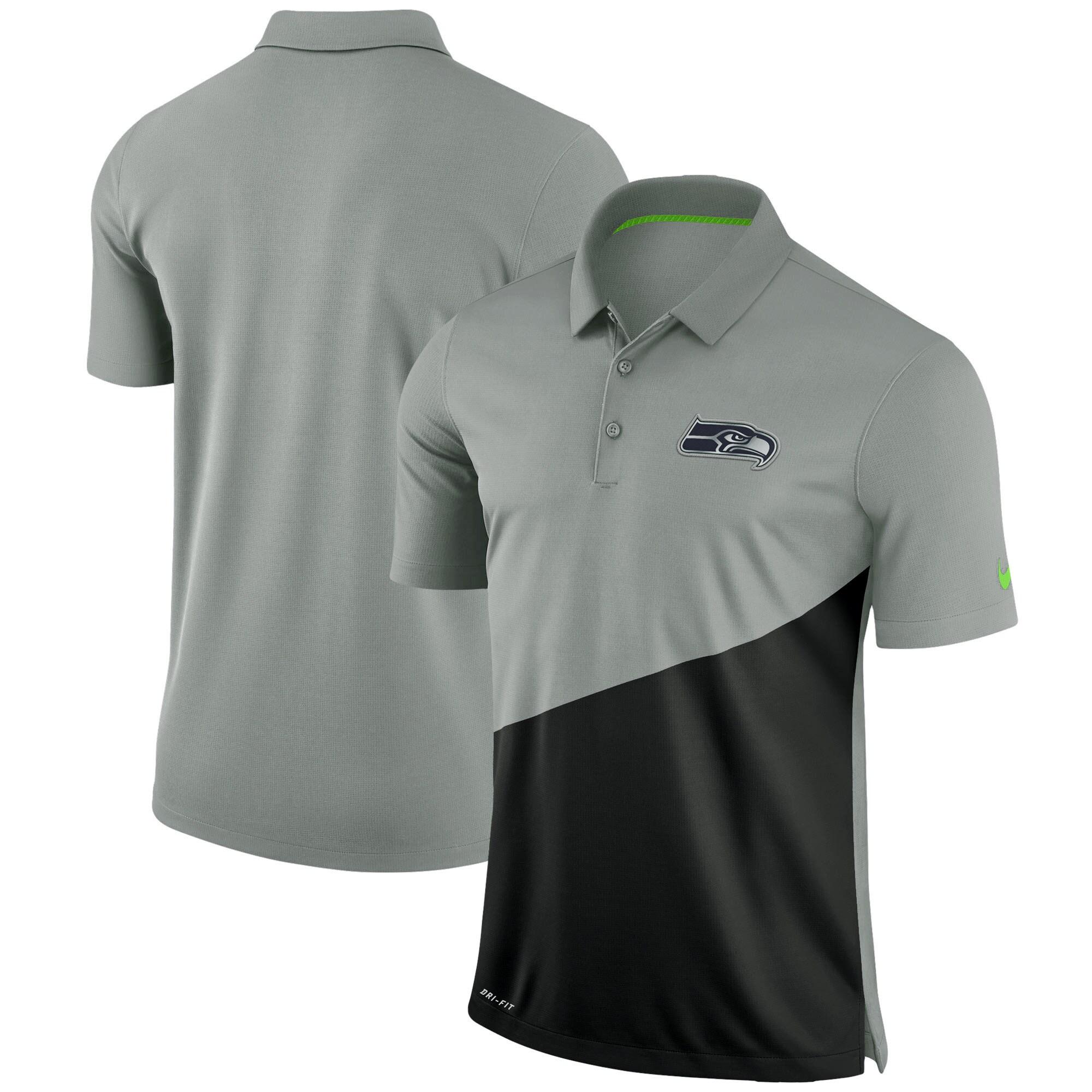 Seattle Seahawks Nike Stadium Performance Polo - Gray