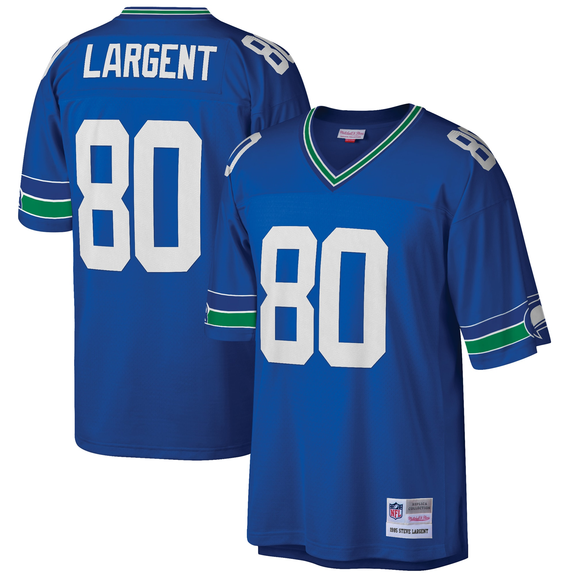 Steve Largent Seattle Seahawks Mitchell & Ness Big & Tall 1985 Retired Player Replica Jersey - Royal