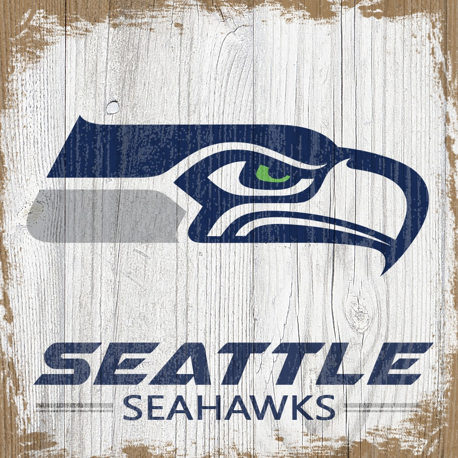 Seattle Seahawks 6'' x 6'' Team Logo Block