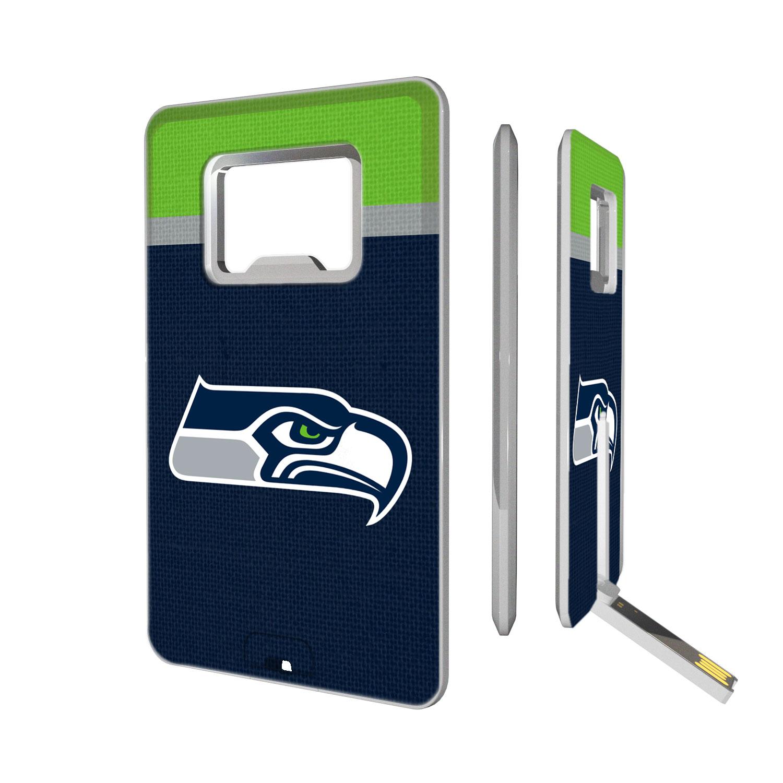 Seattle Seahawks Striped Credit Card USB Drive & Bottle Opener