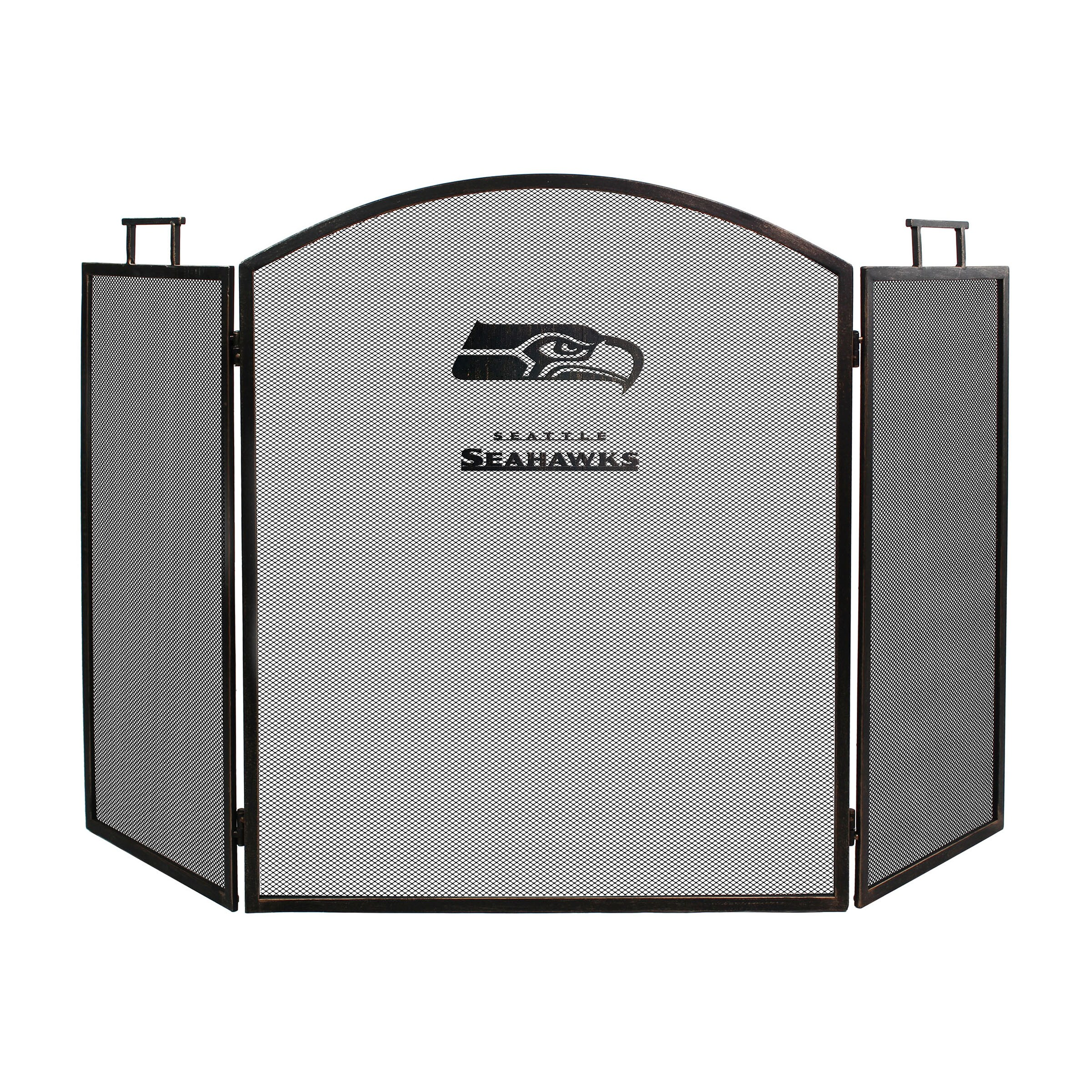 Seattle Seahawks Imperial Fireplace Screen - Brown
