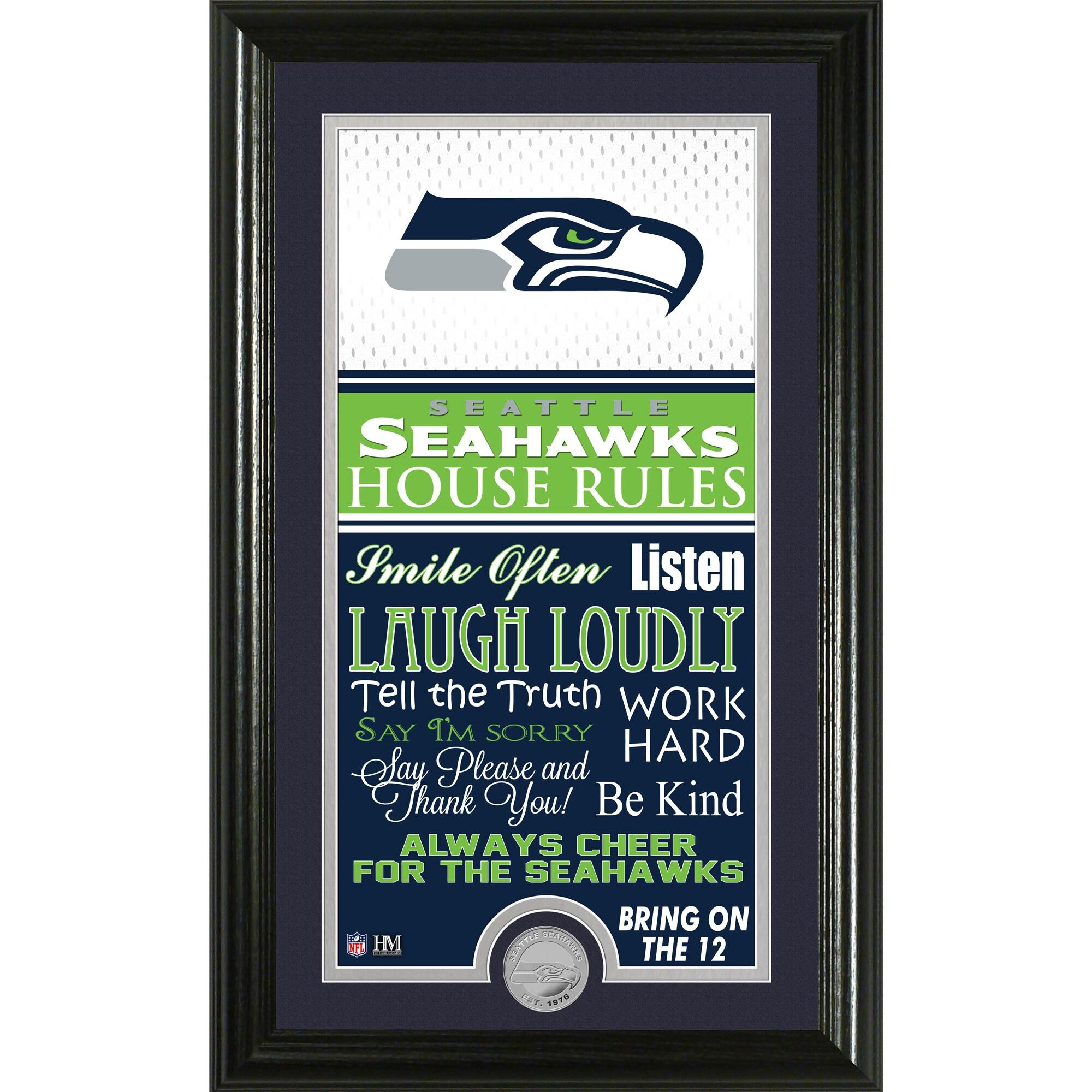 Seattle Seahawks Highland Mint 12'' x 20'' House Rules Supreme Photo Mint