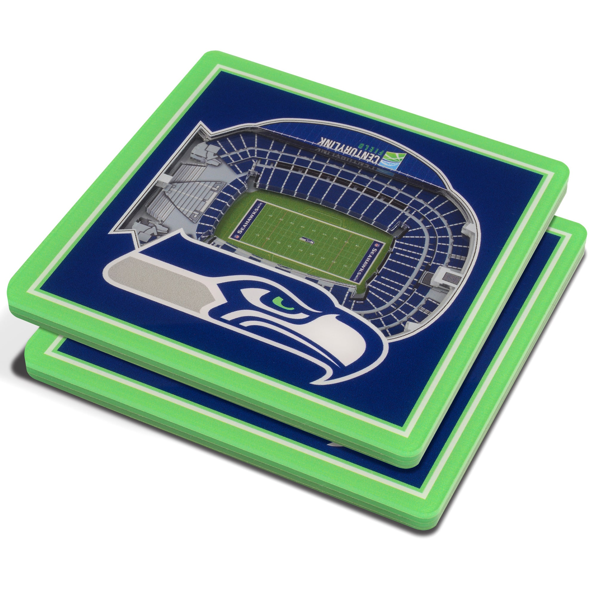 Seattle Seahawks 3D StadiumViews Coasters - Blue