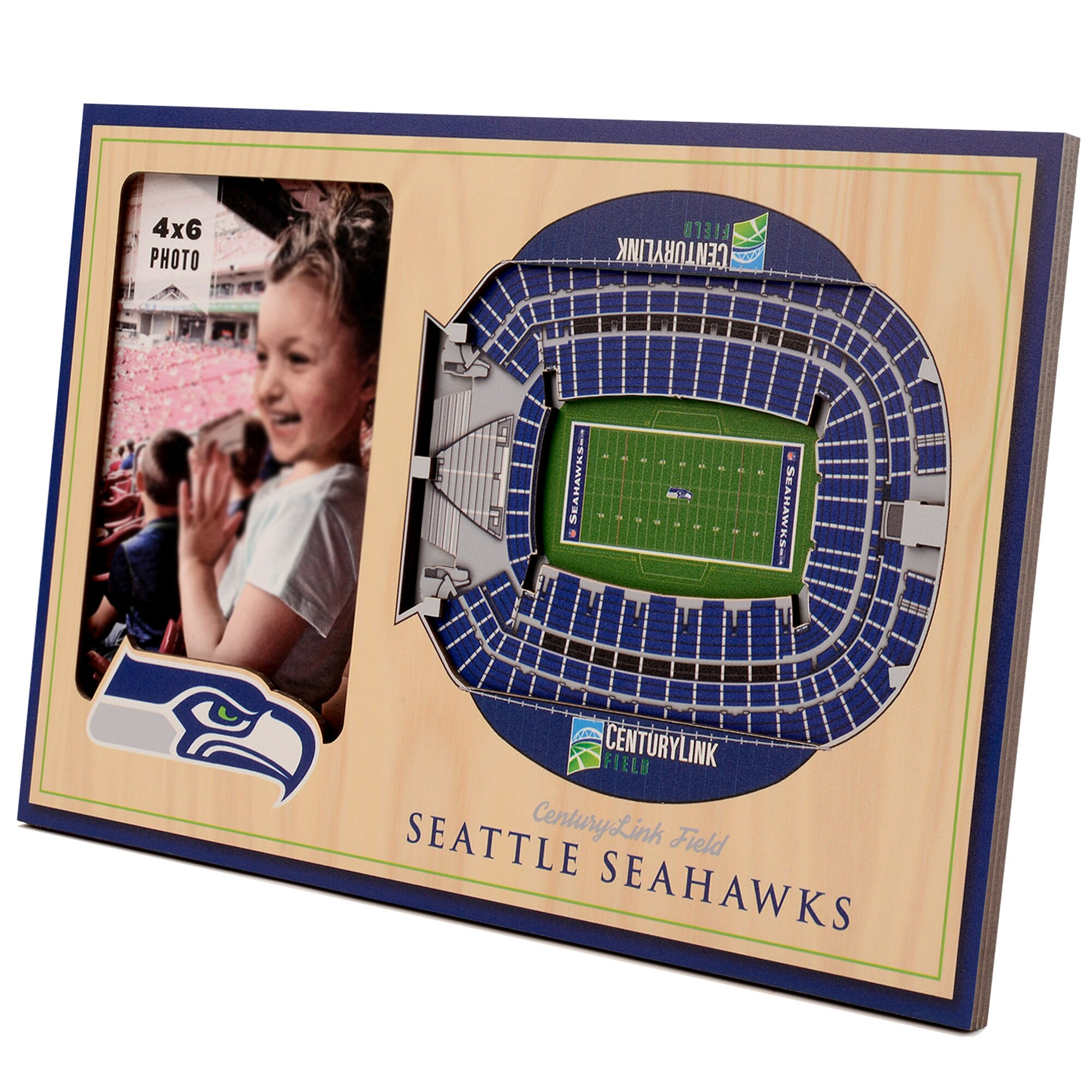Seattle Seahawks 3D StadiumViews Picture Frame - Brown