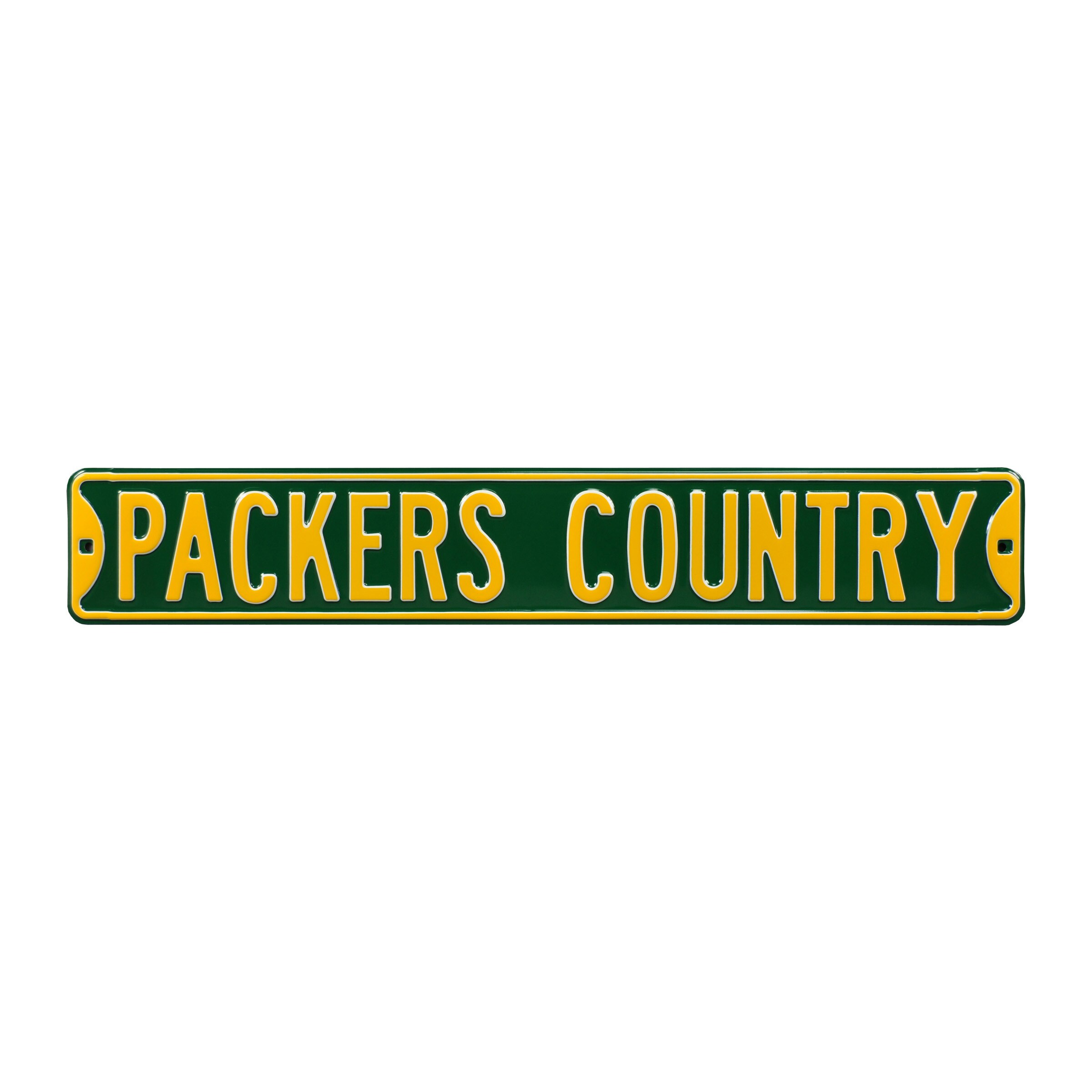 "Green Bay Packers Country 6"" x 36"" Steel Street Sign - Green"