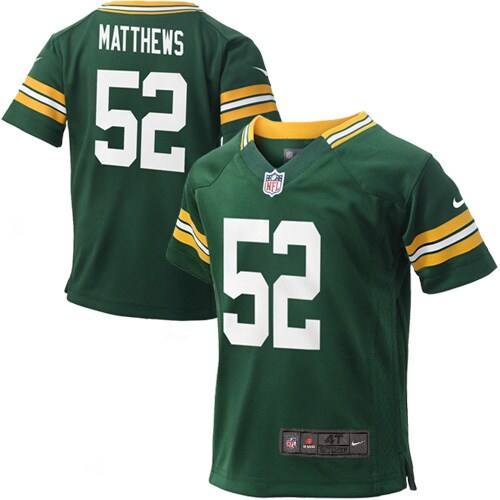 Clay Matthews Green Bay Packers Nike Toddler Game Jersey - Green