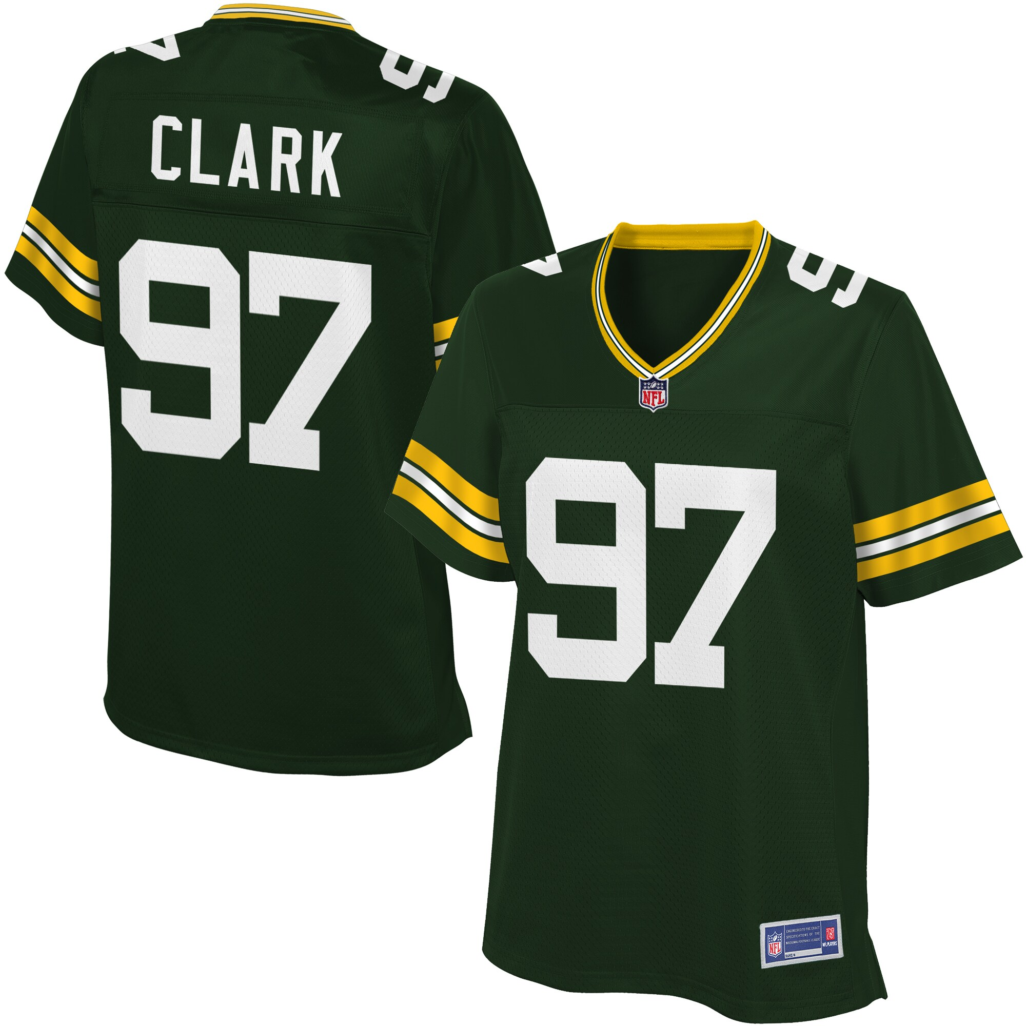 Kenny Clark Green Bay Packers NFL Pro Line Women's Player Jersey - Green