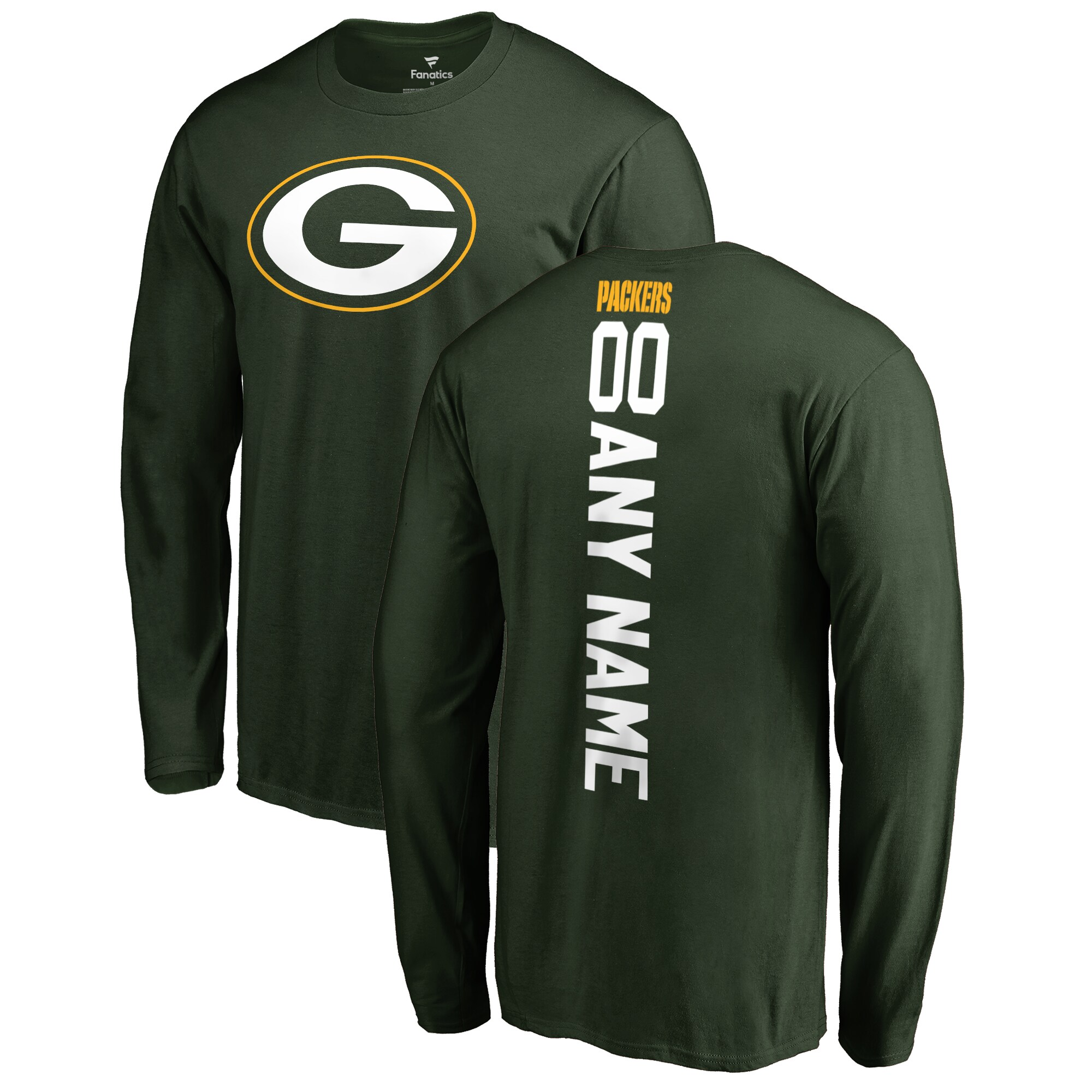 Green Bay Packers NFL Pro Line by Fanatics Branded Personalized Playmaker Long Sleeve T-Shirt - Green