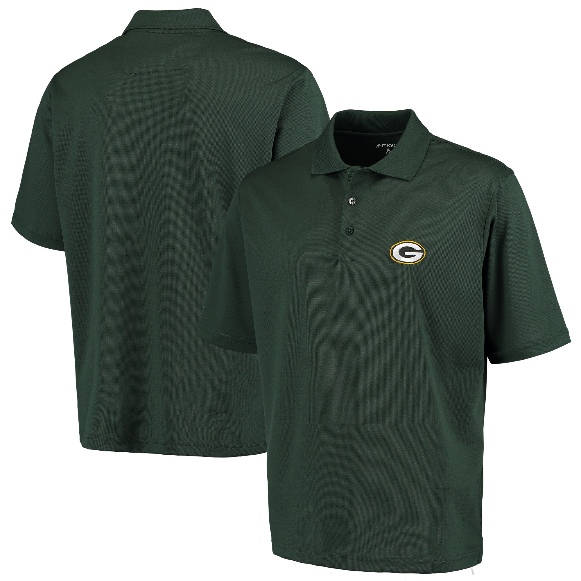 Green Bay Packers Antigua Pique Xtra-Lite Polo - Green