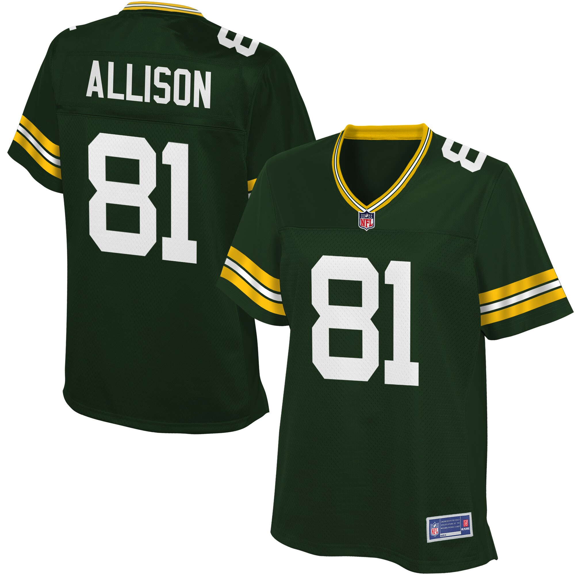 Geronimo Allison Green Bay Packers NFL Pro Line Women's Player Jersey - Green