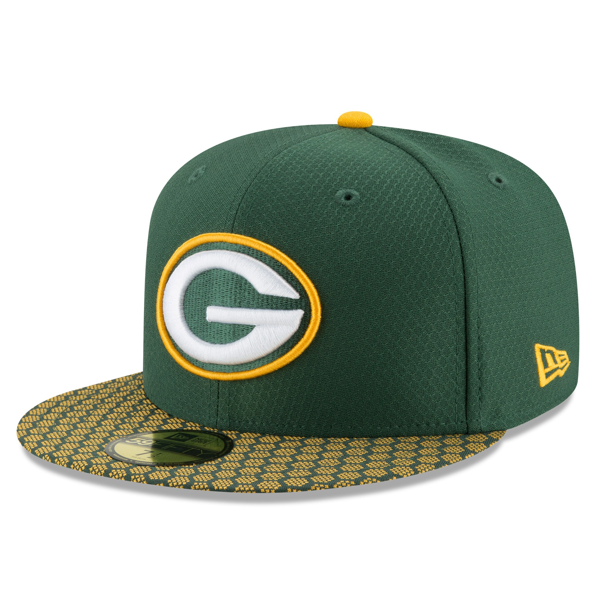 Green Bay Packers New Era 2017 Sideline Official 59FIFTY Fitted Hat - Green