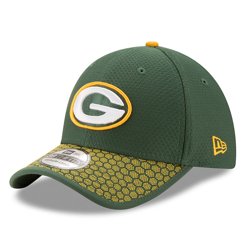 Green Bay Packers New Era 2017 Sideline Official 39THIRTY Flex Hat - Green