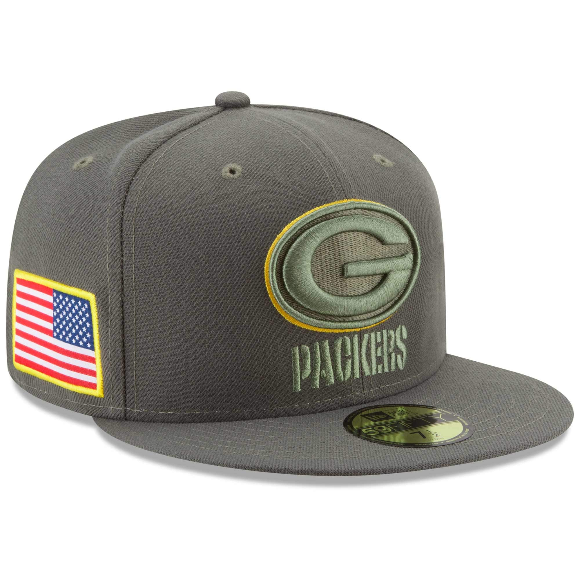 Green Bay Packers New Era 2017 Salute To Service 59FIFTY Fitted Hat - Olive