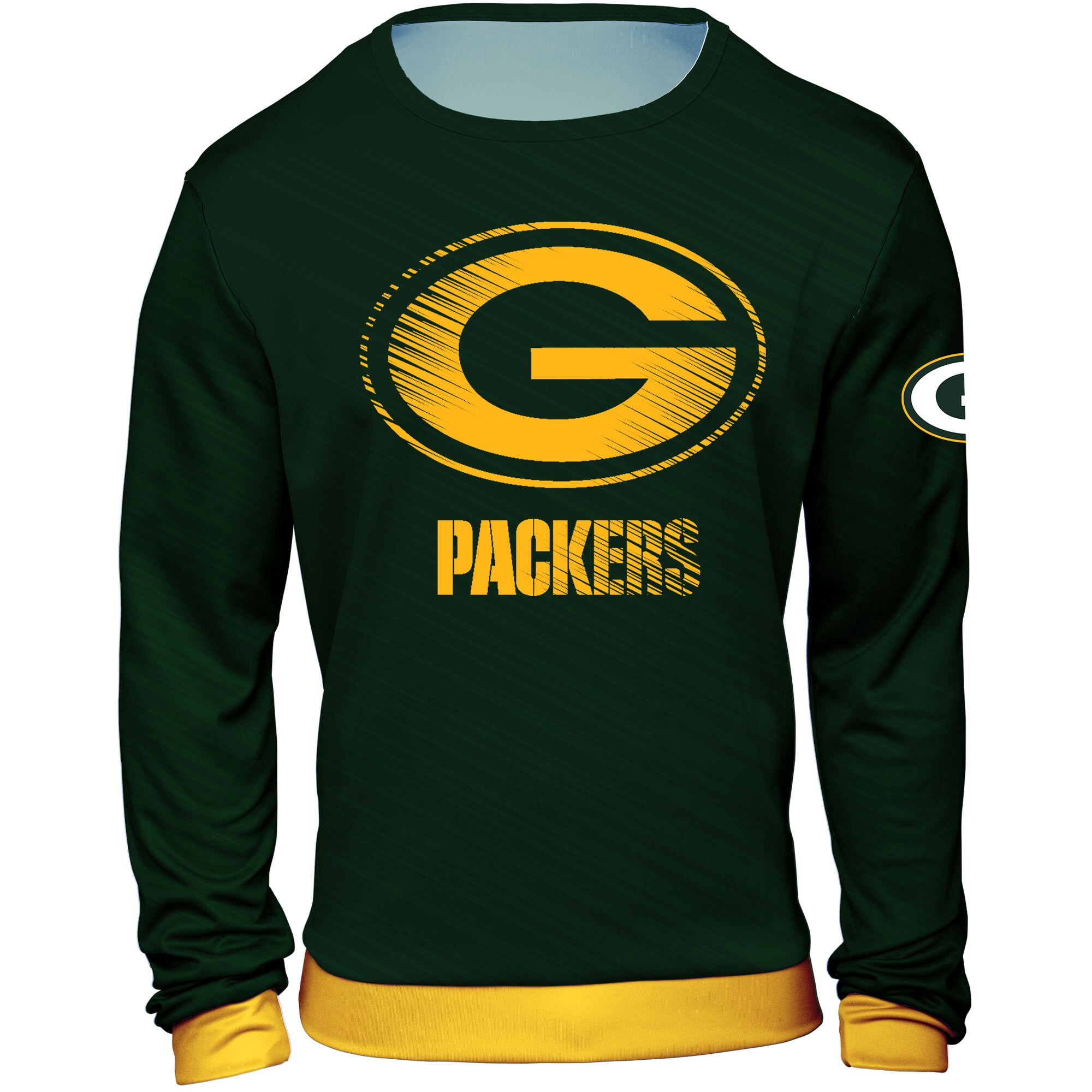 Green Bay Packers Static Rain Pullover Sweatshirt - Green