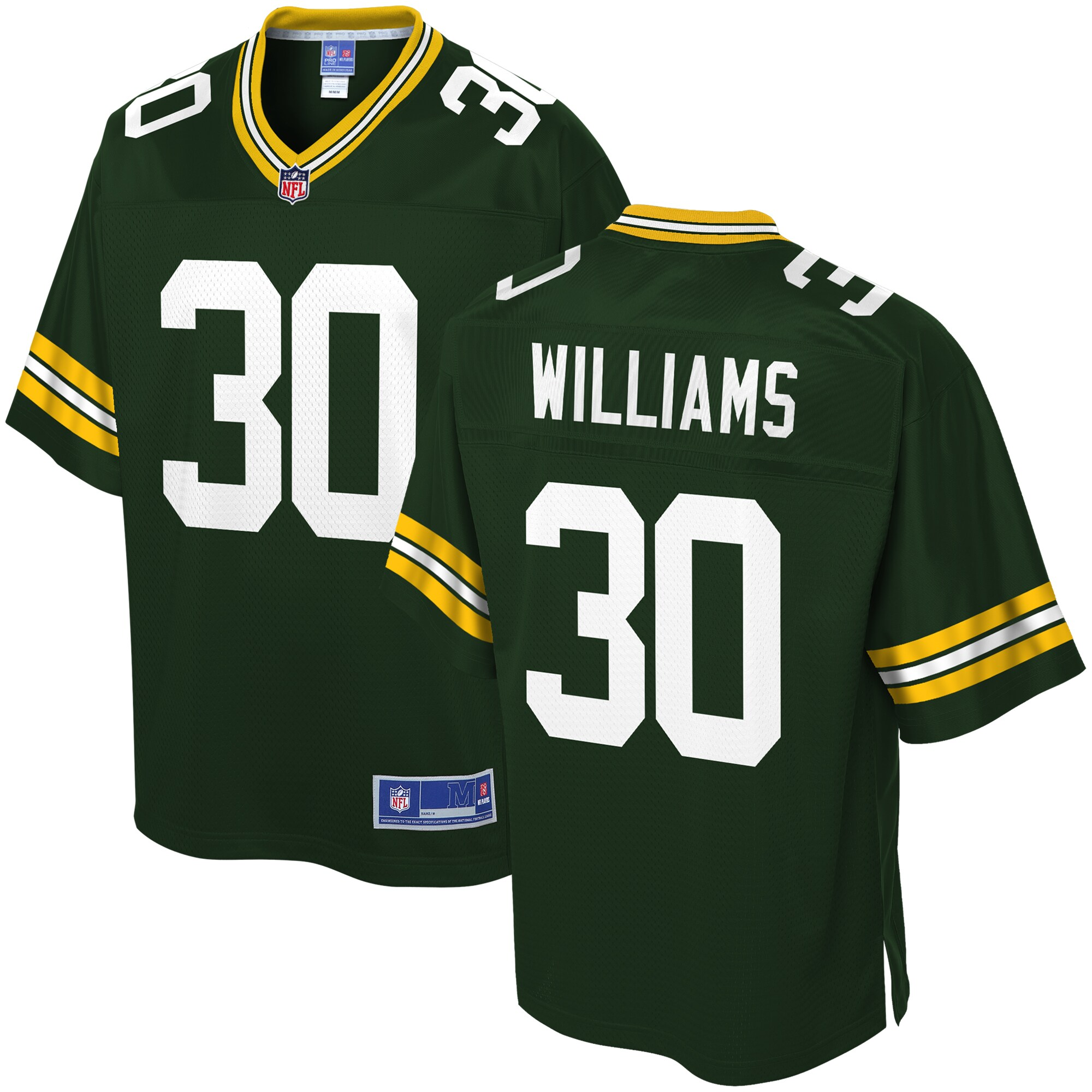Jamaal Williams Green Bay Packers NFL Pro Line Player Jersey - Green