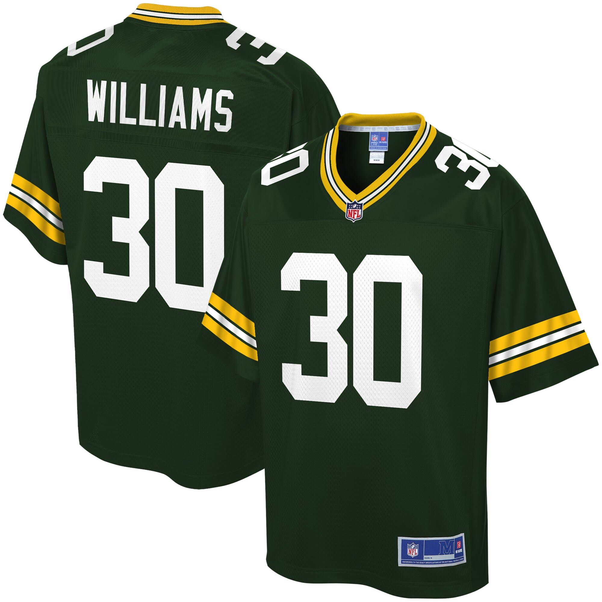 Jamaal Williams Green Bay Packers NFL Pro Line Youth Player Jersey - Green