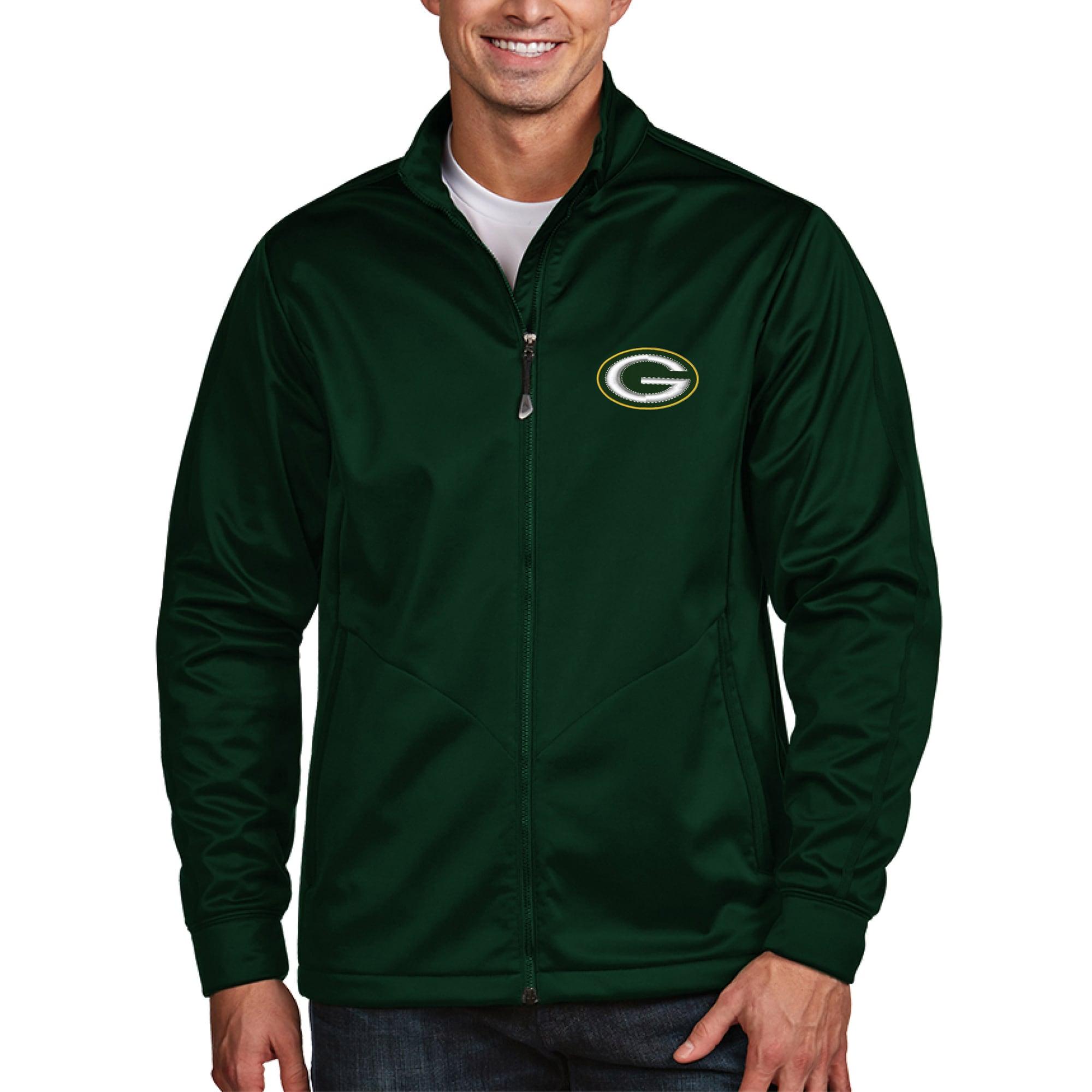 Green Bay Packers Antigua Golf Full-Zip Jacket - Green
