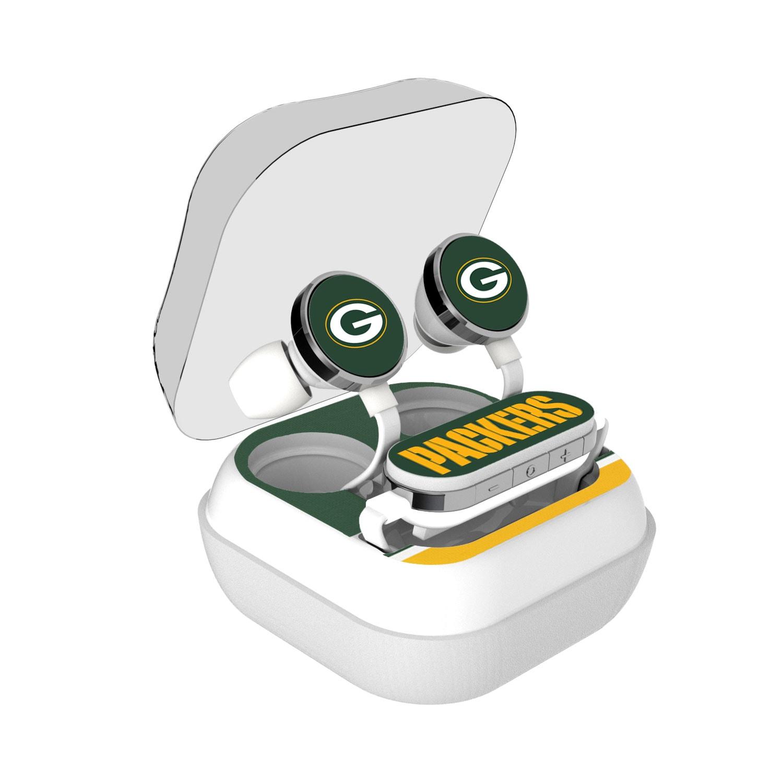 Green Bay Packers Stripe Design Wireless Earbuds