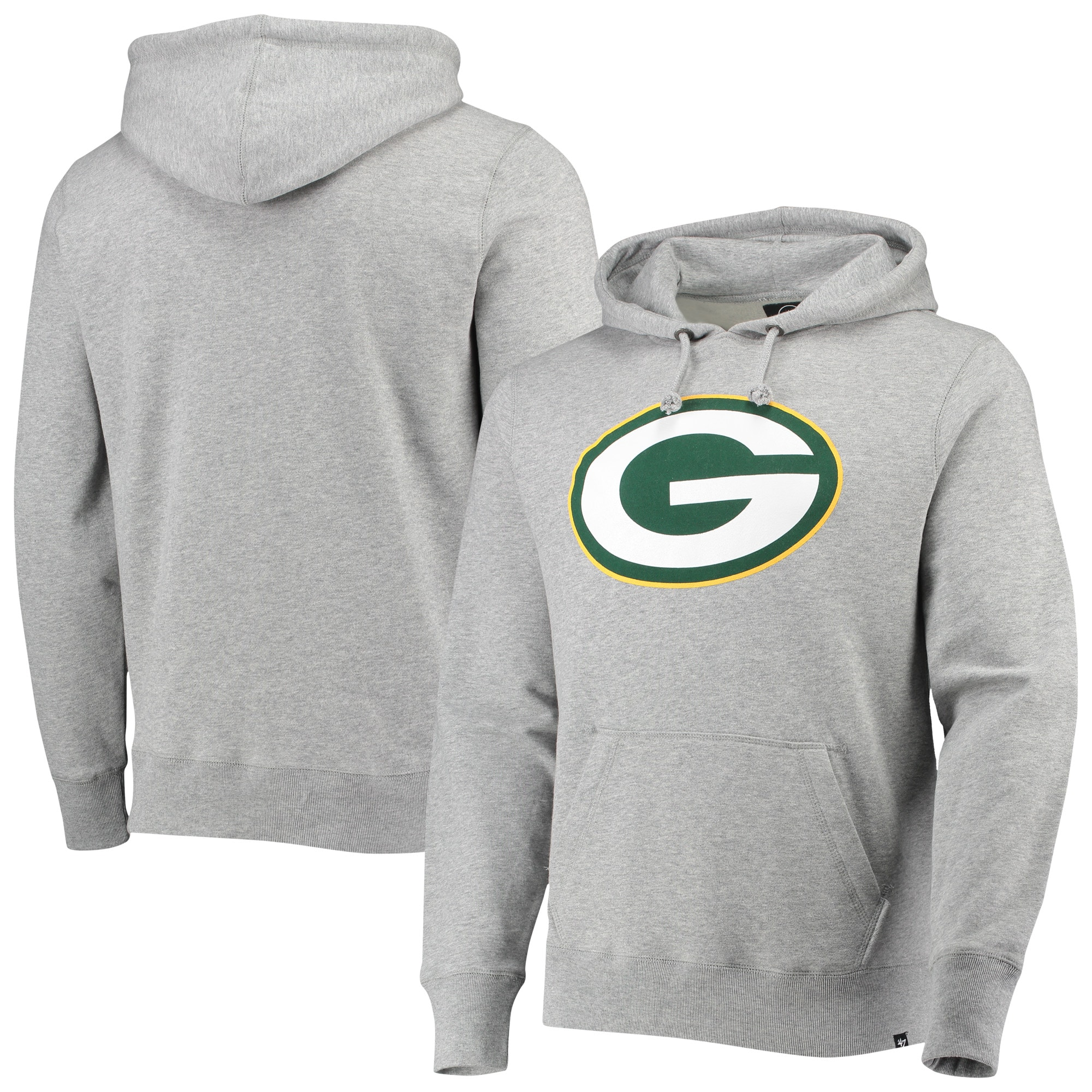 Green Bay Packers '47 Imprint Headline Pullover Hoodie - Heathered Gray