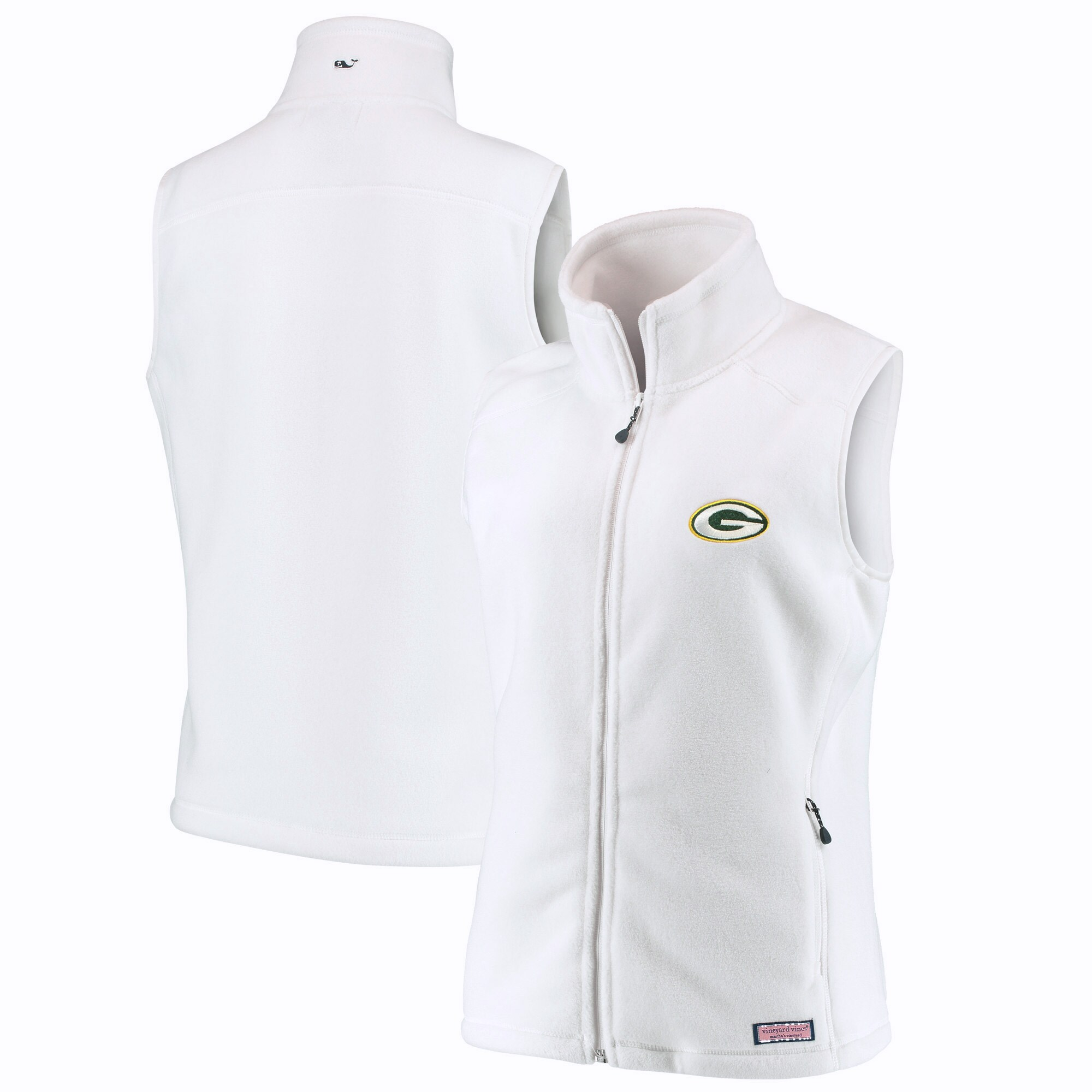 Green Bay Packers Vineyard Vines Women's Westerly Vest - White