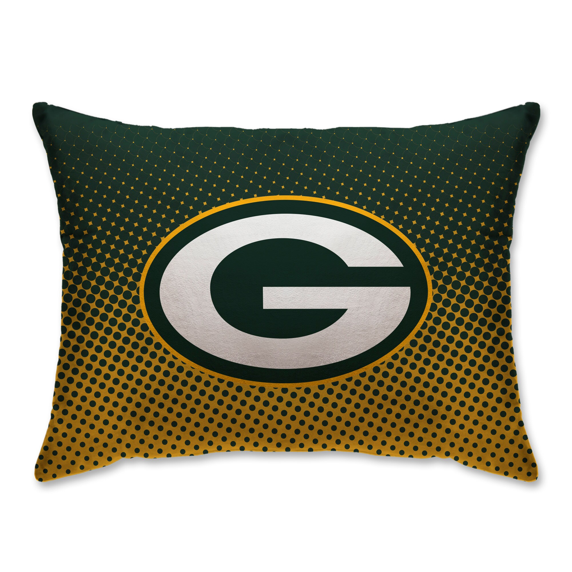 """Green Bay Packers 20"""" x 26"""" Dot Decorative Bed Pillow"""