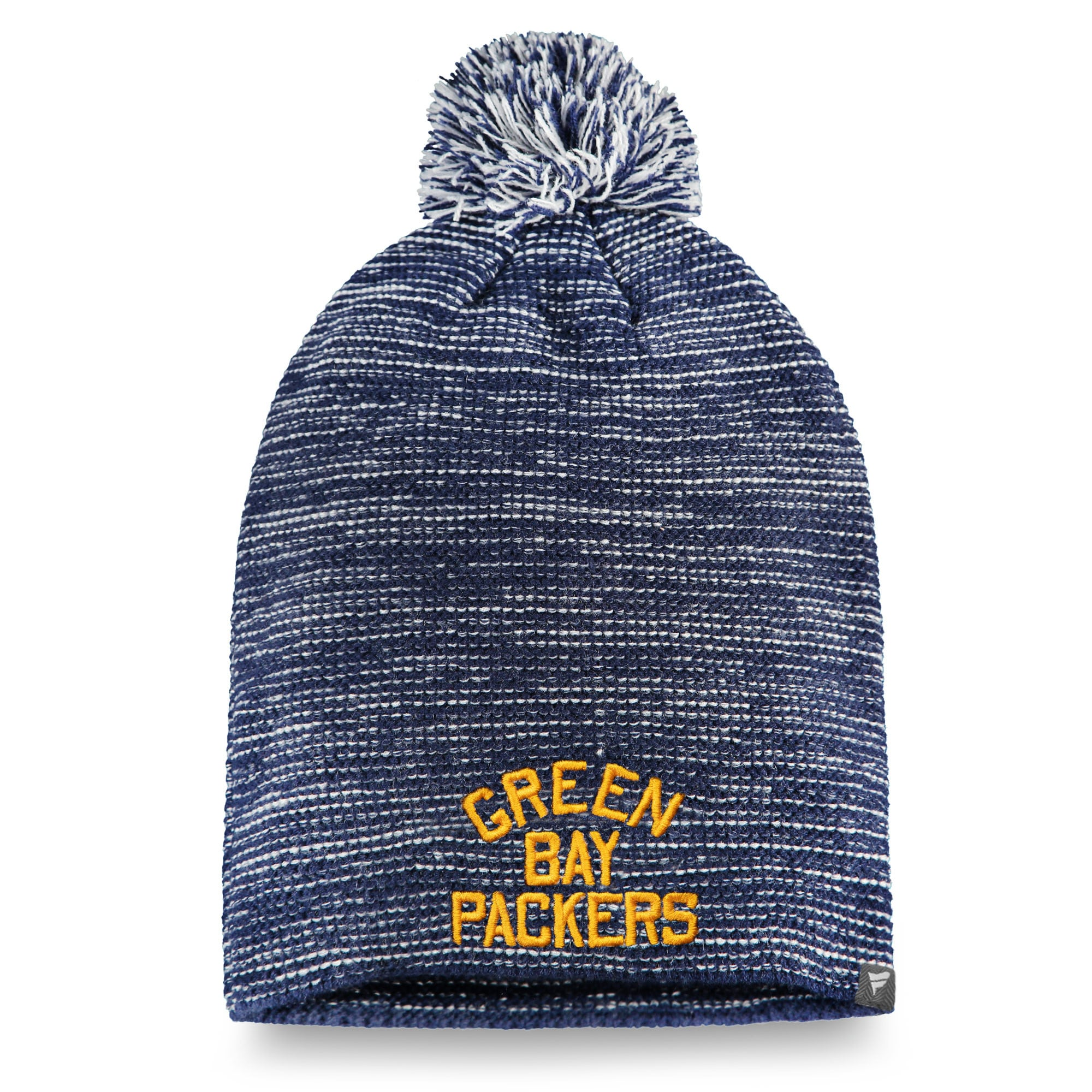 Green Bay Packers NFL Pro Line by Fanatics Branded Women's Throwback Versalux Knit Beanie - Navy