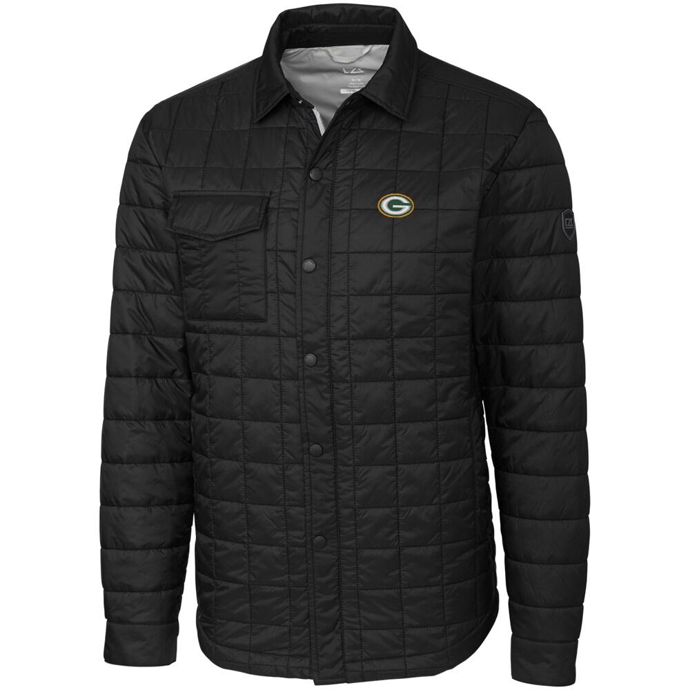 Green Bay Packers Cutter & Buck Big & Tall Rainier Shirt Jacket - Black