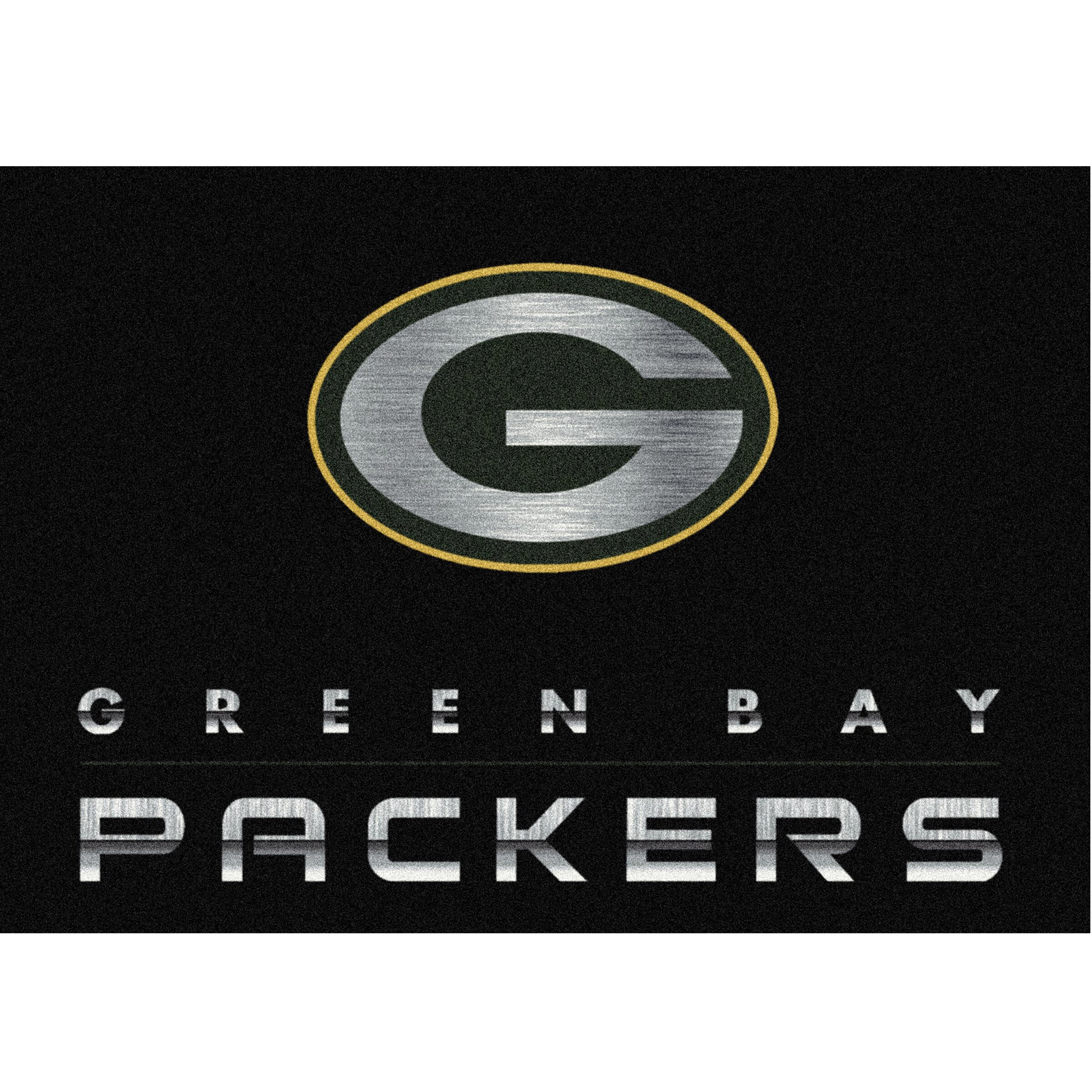 Green Bay Packers Imperial 3'10'' x 5'4'' Chrome Rug