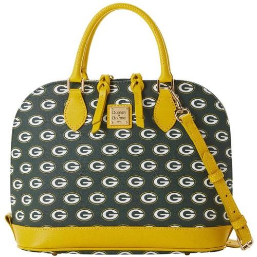 Green Bay Packers Dooney & Bourke Women's Saffiano Signature Zip Zip Satchel Purse