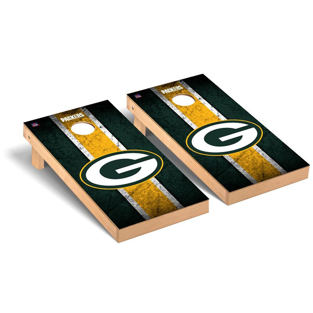 Green Bay Packers 2' x 4' Vintage Regulation Cornhole Board Tailgate Toss Set