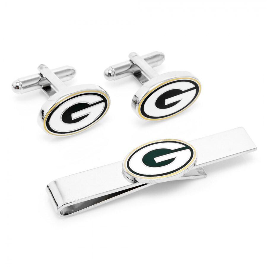 Green Bay Packers Tie Bar & Cufflinks Set