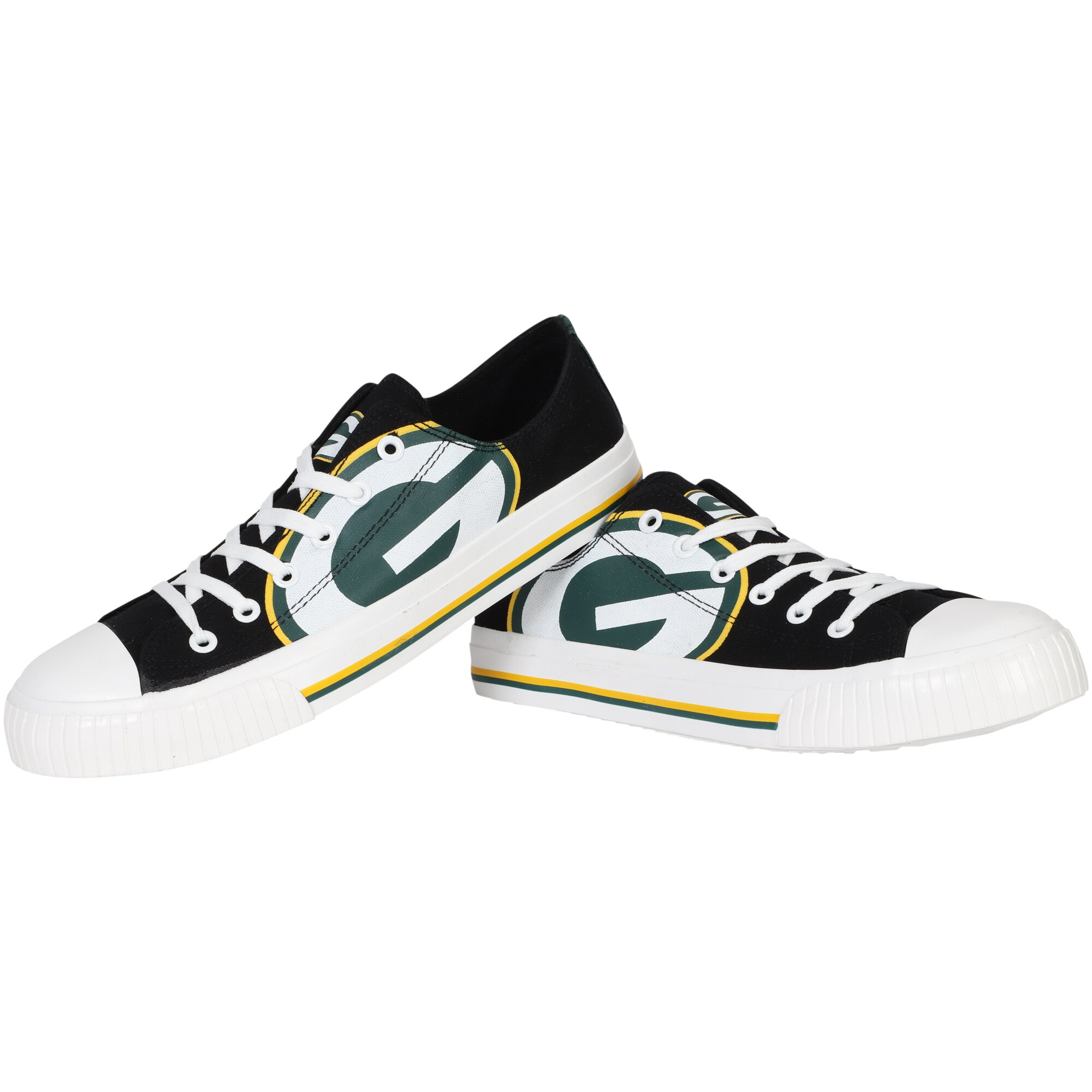 Green Bay Packers Big Logo Low Top Sneakers