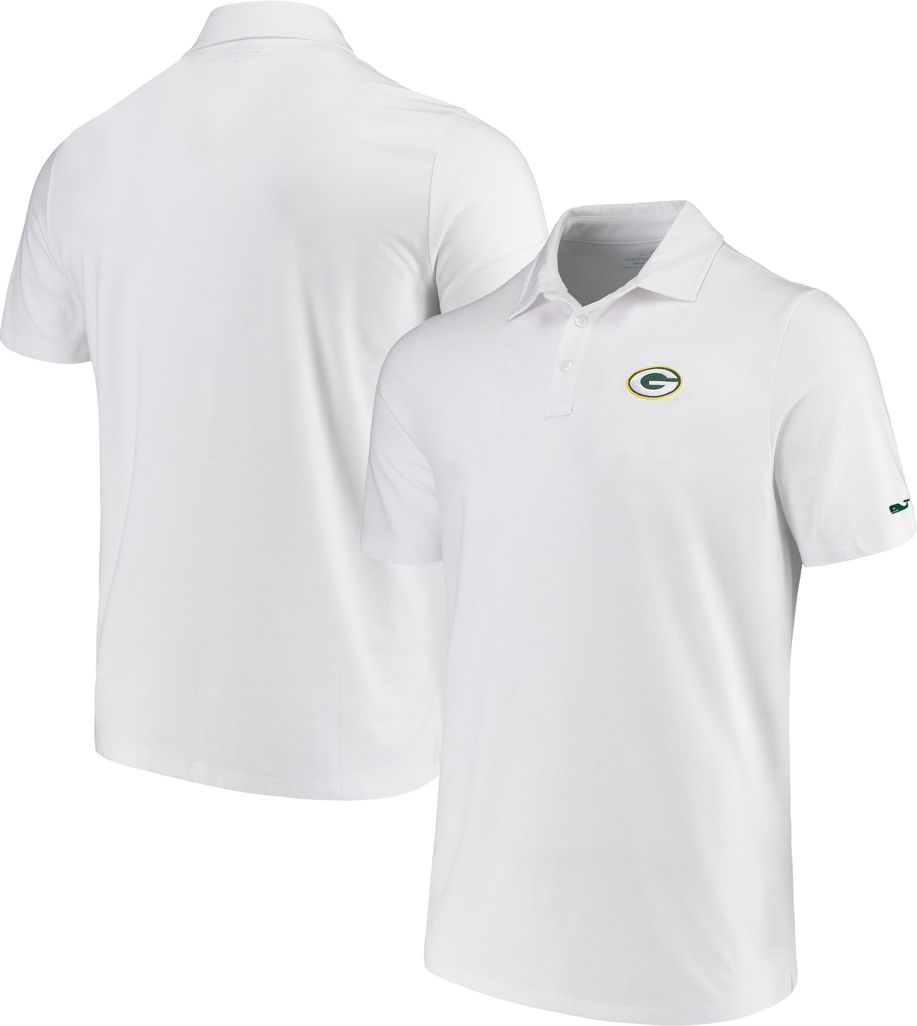 Green Bay Packers Vineyard Vines Edgartown Tri-Blend Polo - White