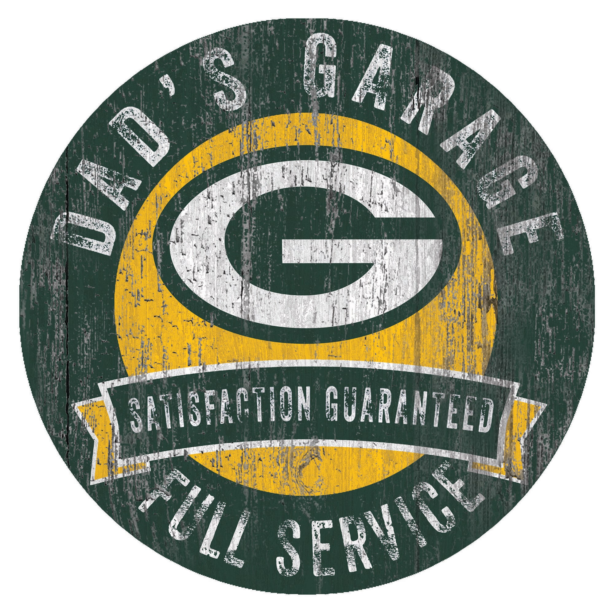 """Green Bay Packers 12"""" x 12"""" Dad's Garage Sign"""