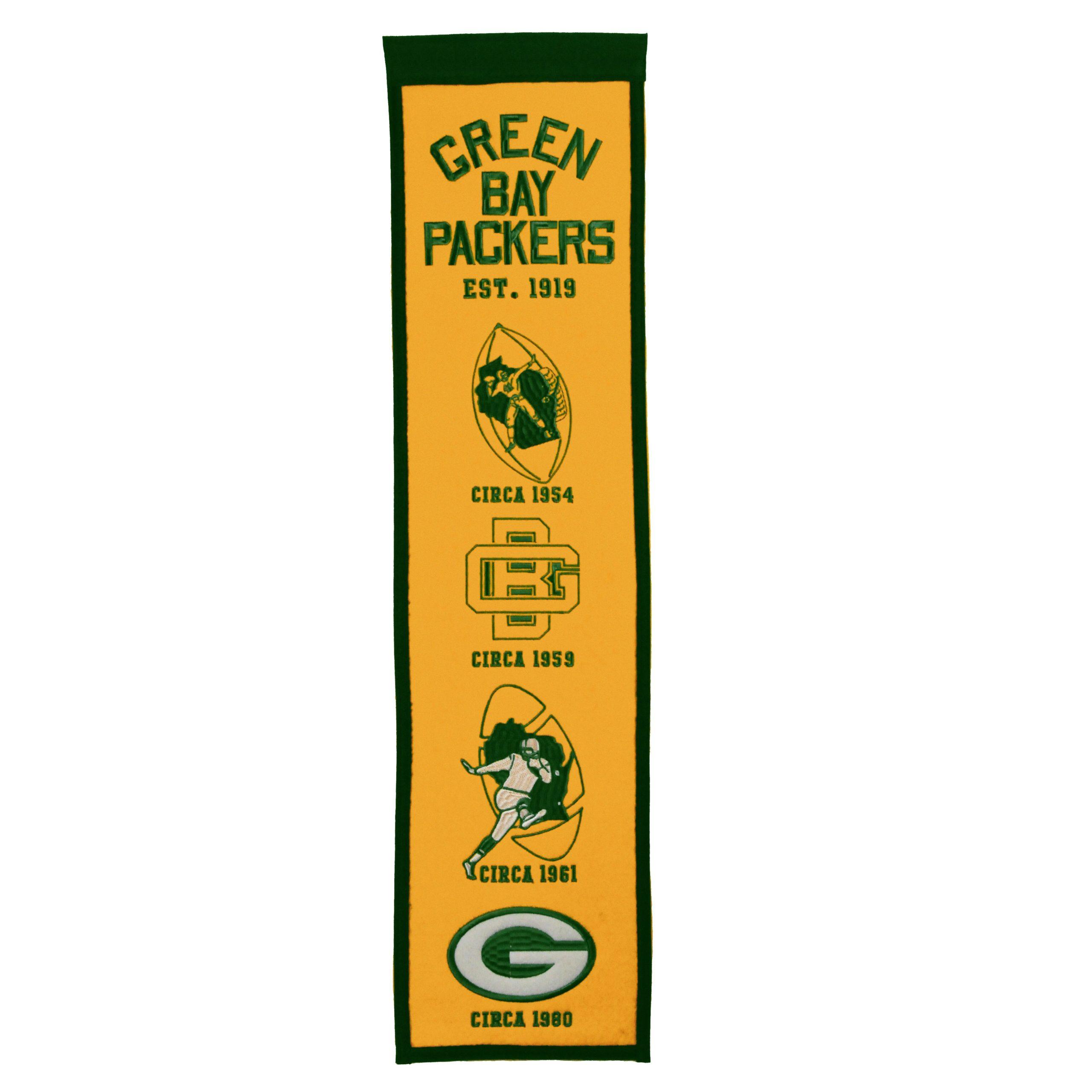 """Green Bay Packers 8"""" x 32"""" Fan Favorite Banner"""