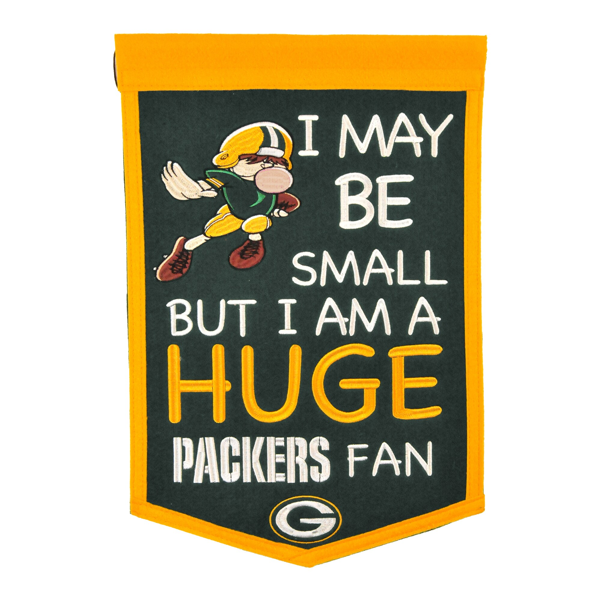 """Green Bay Packers 12"""" x 18"""" Lil Fan Traditions Banner"""