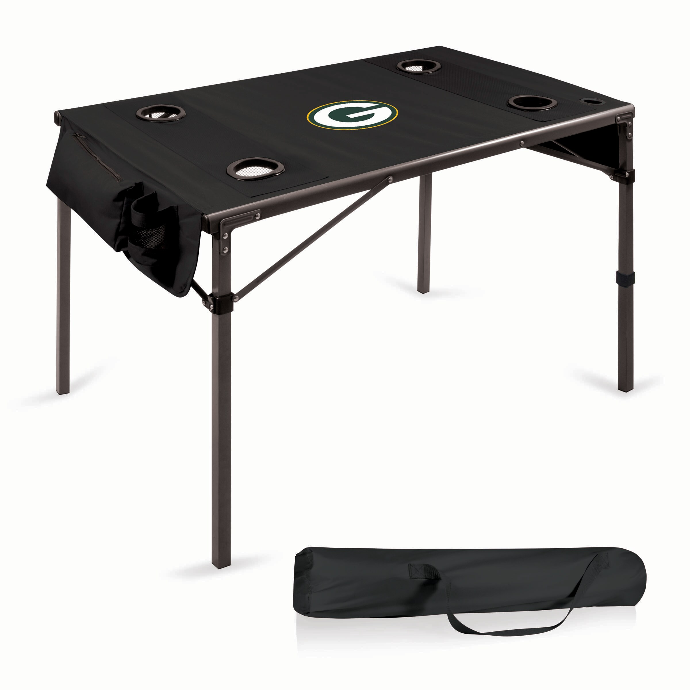 Green Bay Packers Portable Folding Travel Table - Black