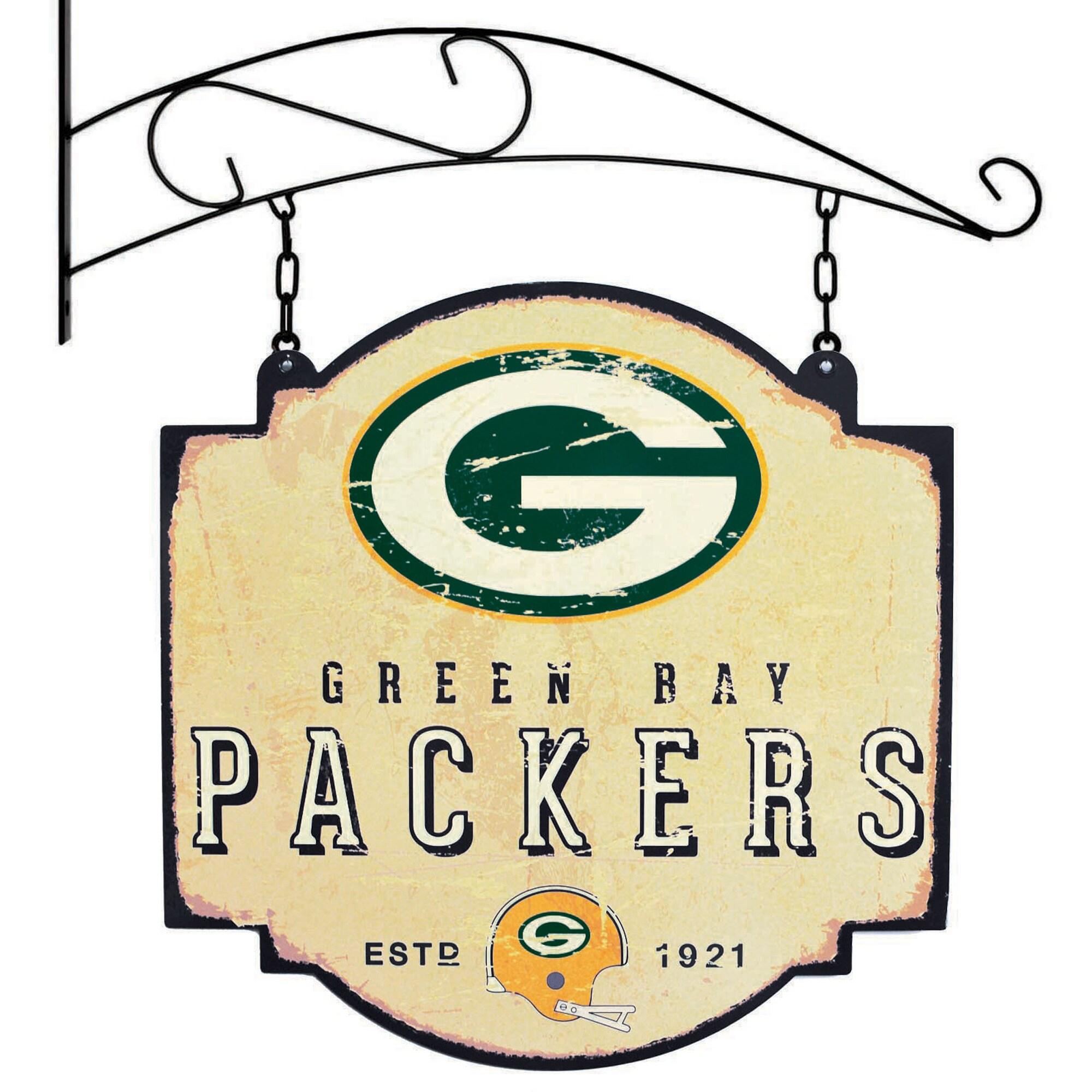 "Green Bay Packers 16"" x 16"" Tavern Sign - Cream"