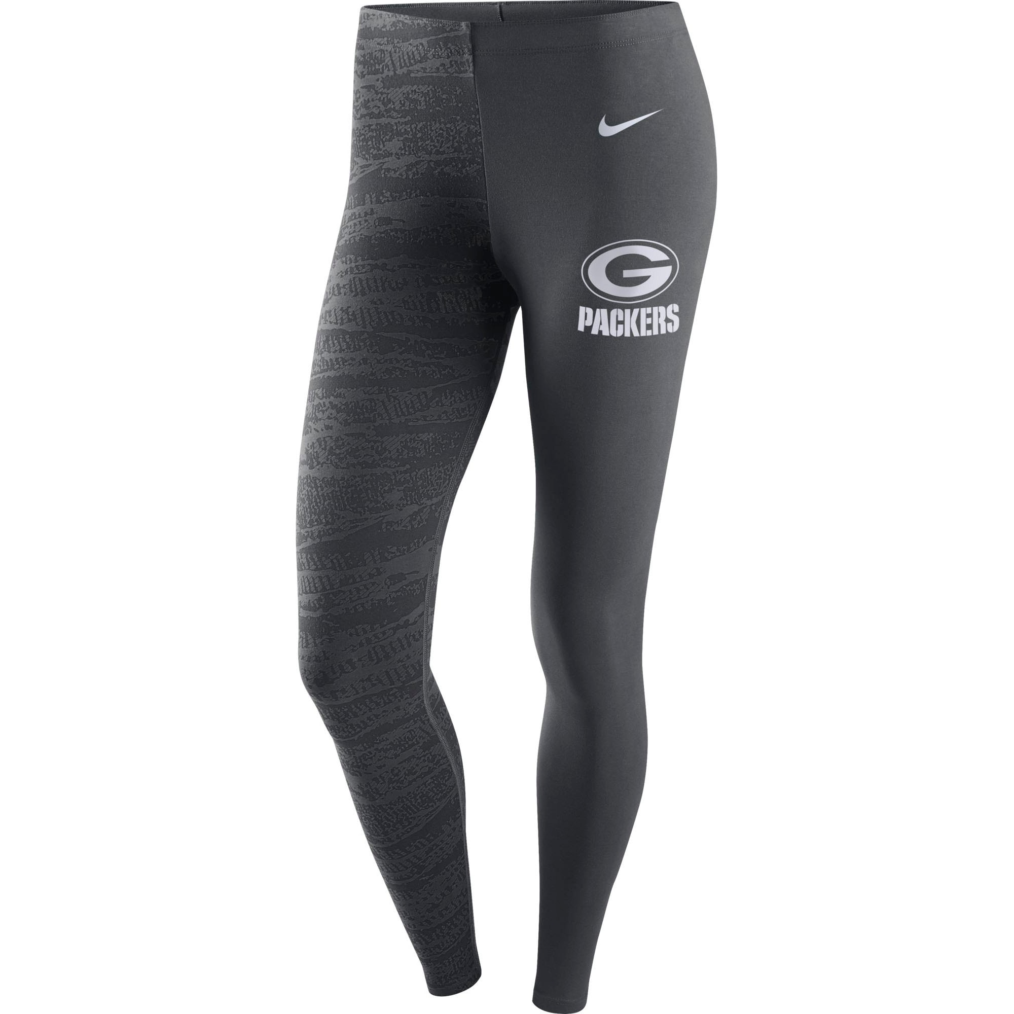 Green Bay Packers Nike Women's Leg-A-See Leggings - Anthracite
