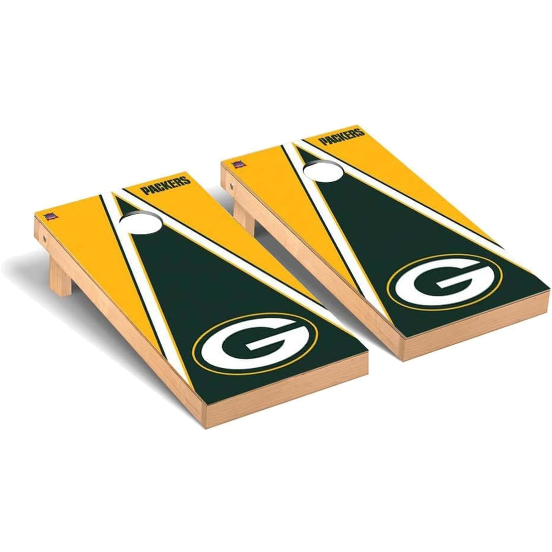 Green Bay Packers 2' x 4' Triangle Cornhole Board Tailgate Toss Set