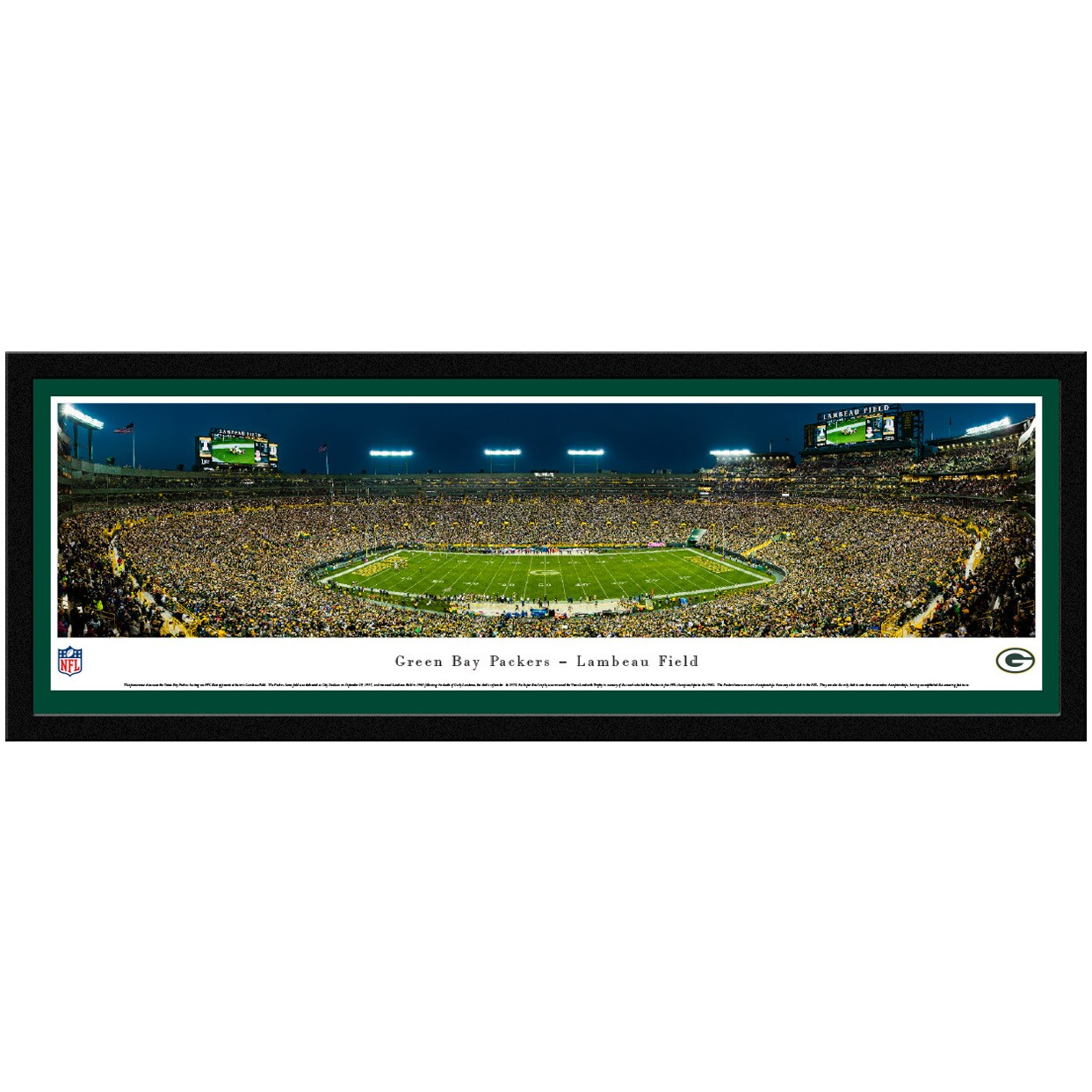 "Green Bay Packers 42"" x 15.5"" Select Frame Panoramic Photo"